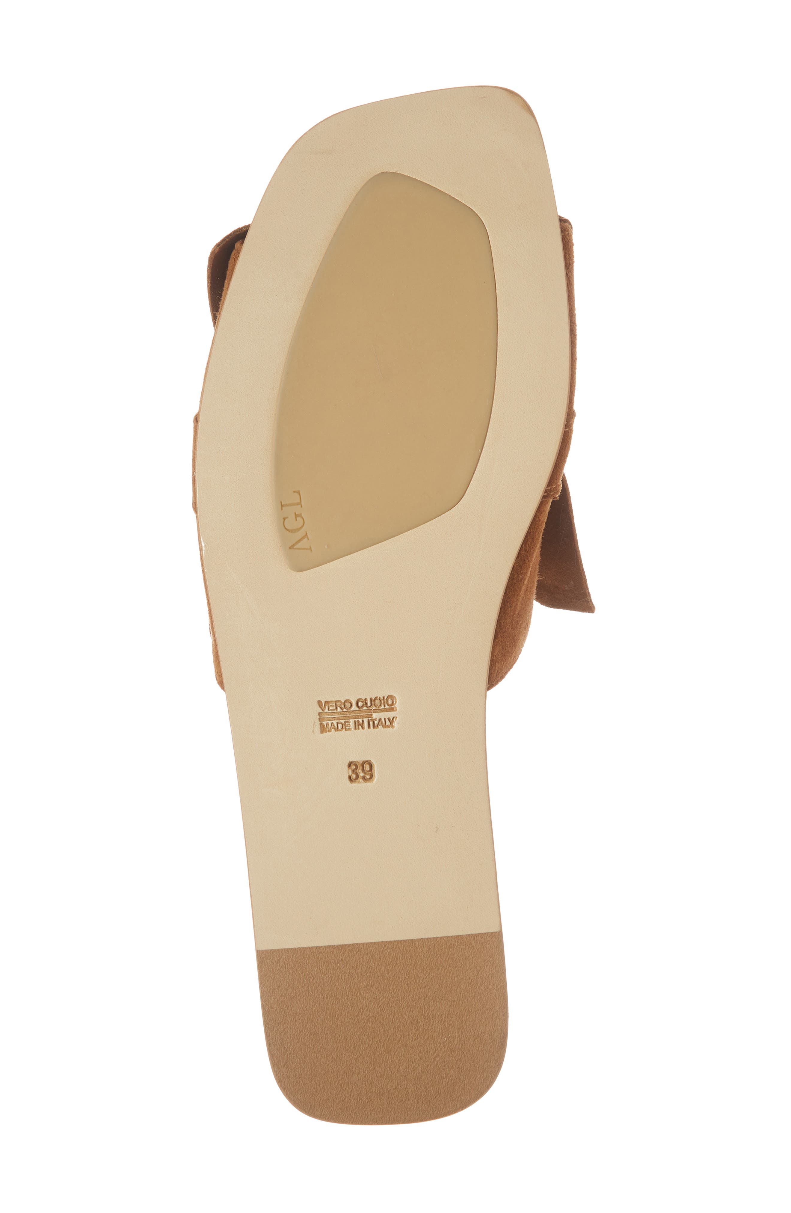 Ruched Slide Sandal,                             Alternate thumbnail 6, color,                             245