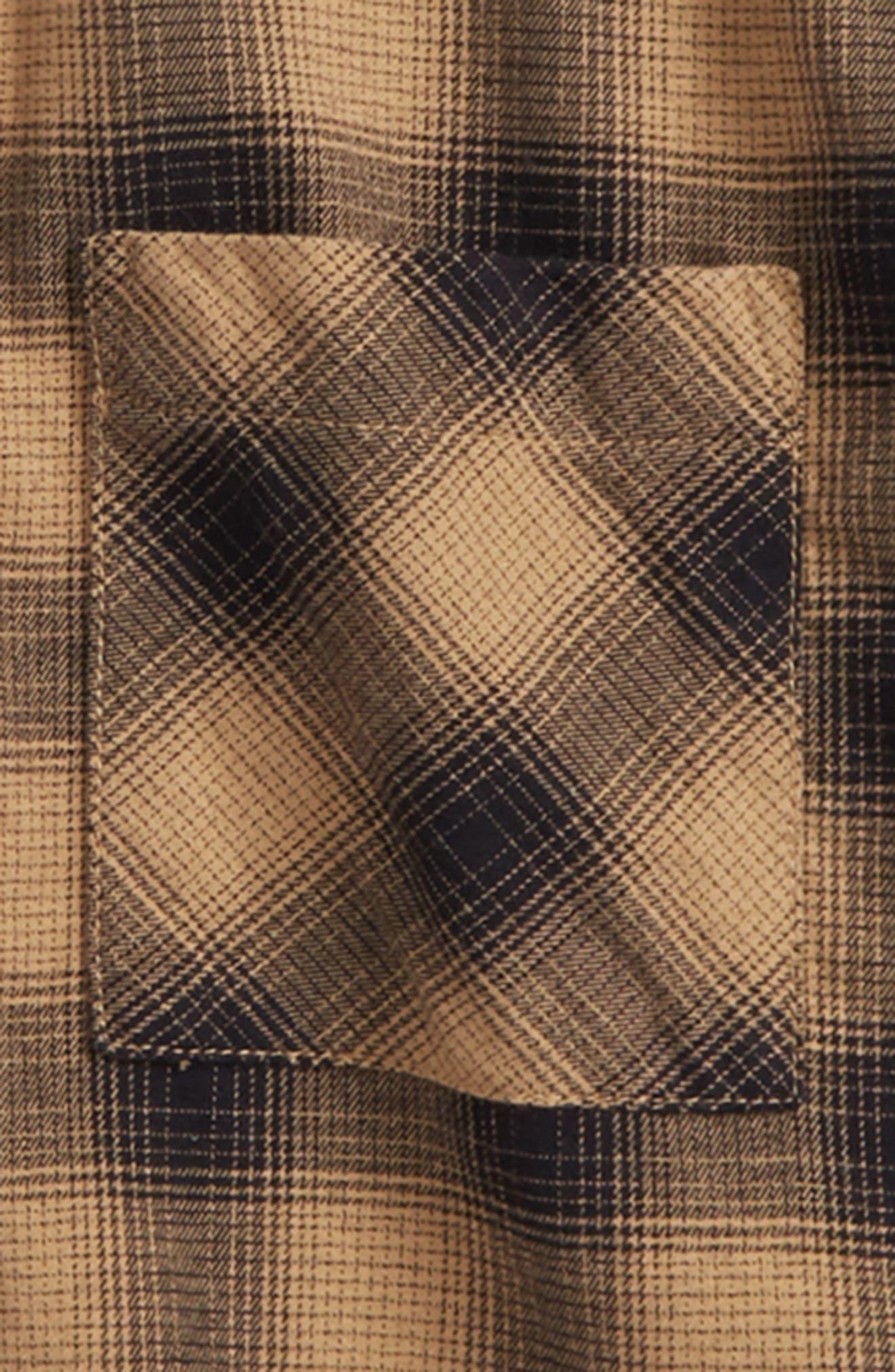 Distressed Plaid Flannel Shirt,                             Alternate thumbnail 2, color,                             210