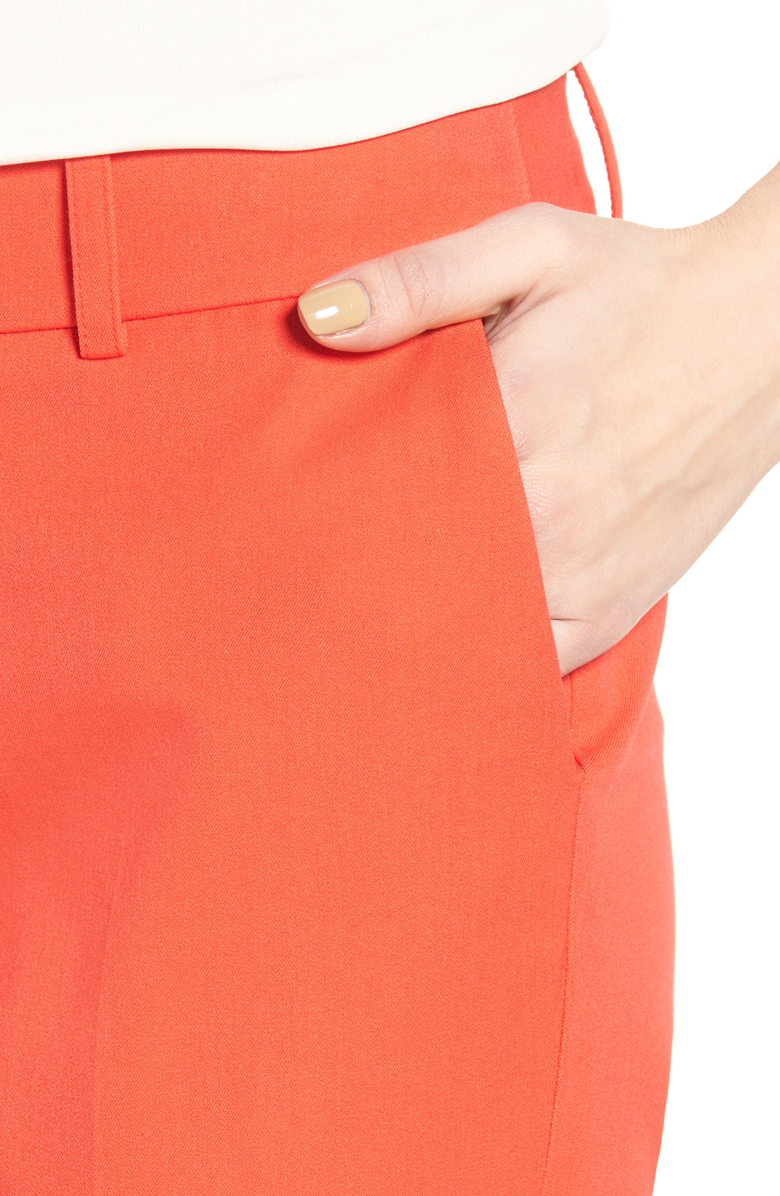 Crop Stretch Cotton Pants,                             Alternate thumbnail 83, color,