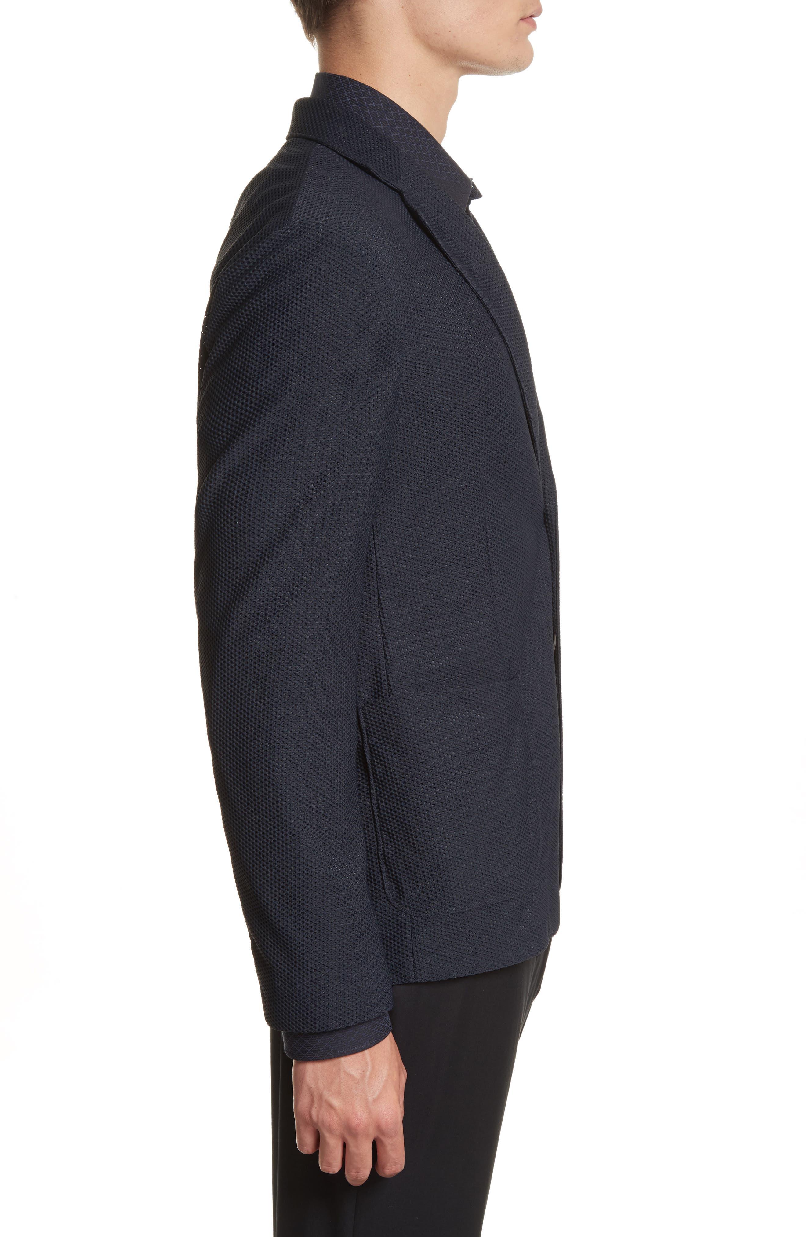 Mesh Knit Jacket,                             Alternate thumbnail 3, color,                             465