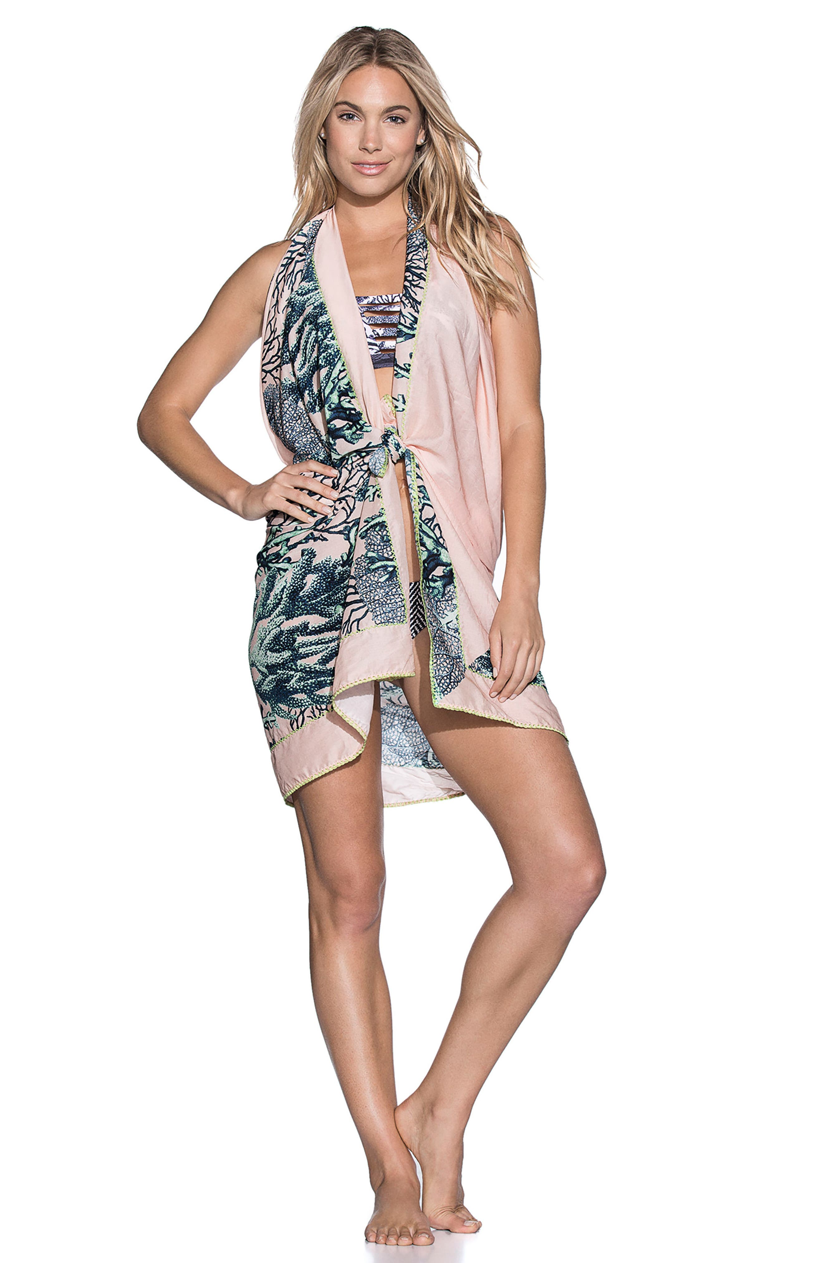 Bar Reef Pareo Cover-Up Wrap,                             Alternate thumbnail 3, color,