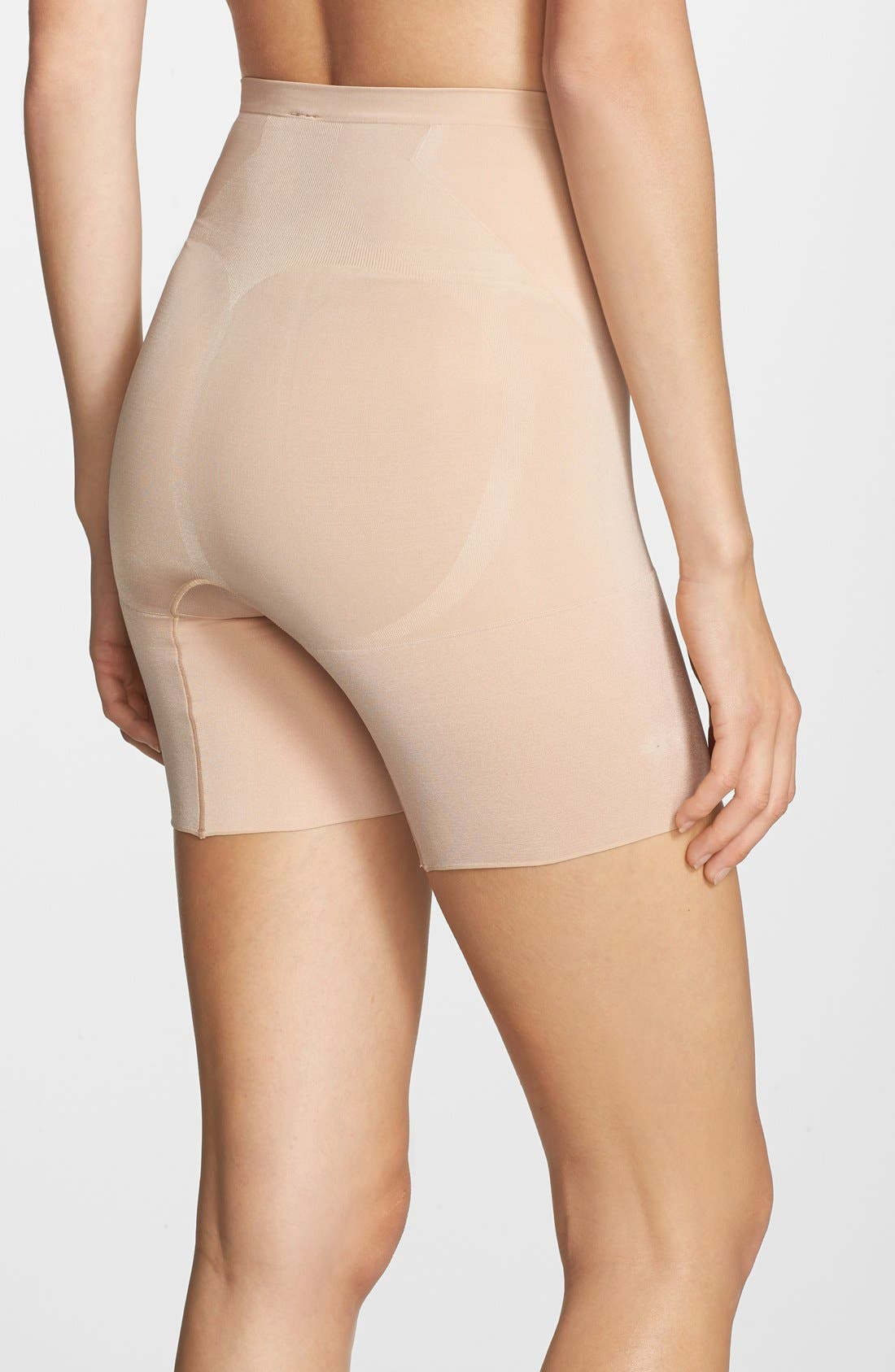 OnCore Mid Thigh Shorts,                             Alternate thumbnail 3, color,                             SOFT NUDE