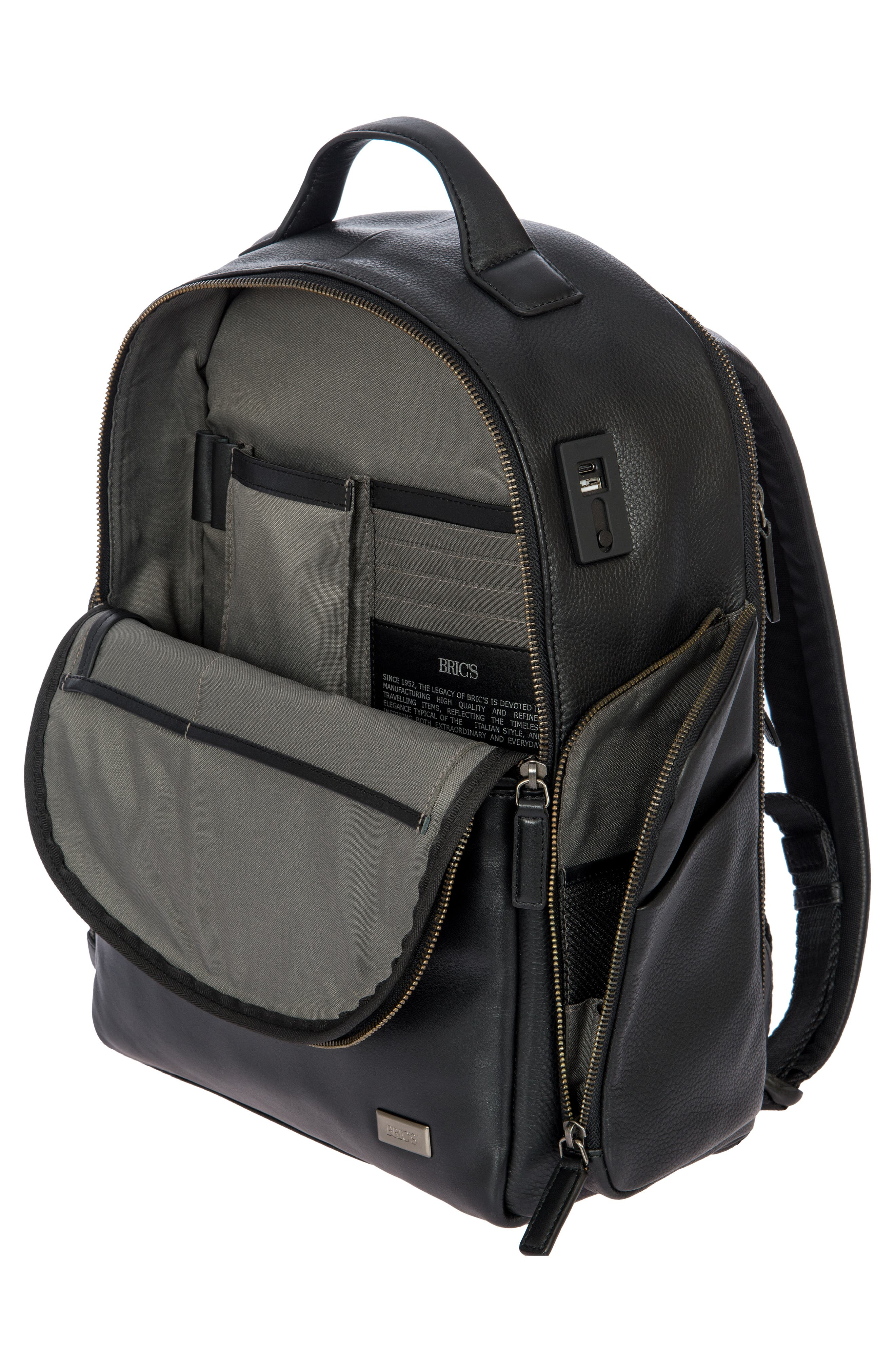 Torino Medium Business Backpack,                             Alternate thumbnail 7, color,                             BLACK