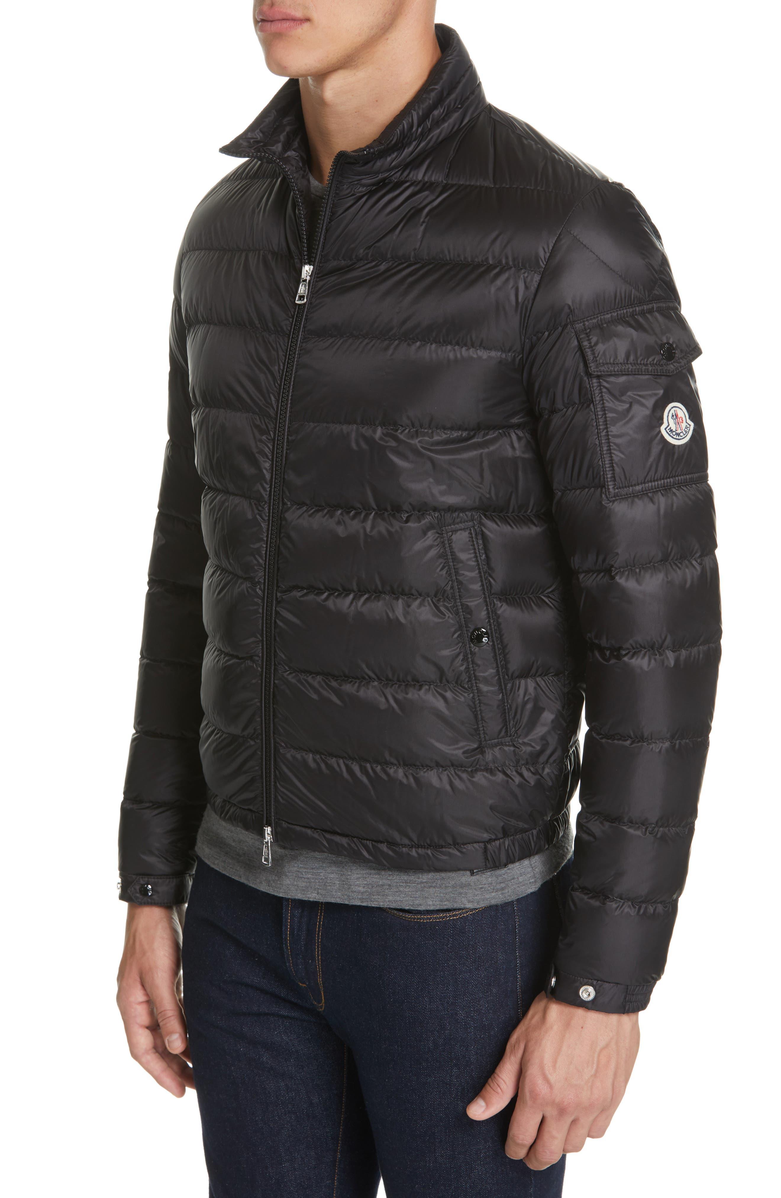 Moncler Lambot Zip Up Jacket, Black