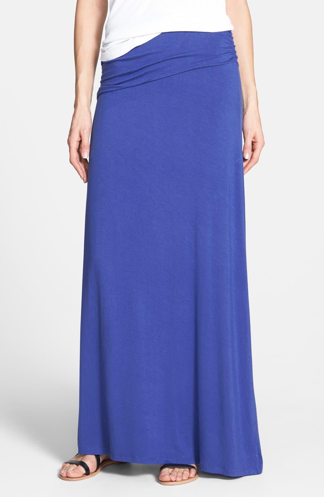 Asymmetric Knit Maxi Skirt,                             Main thumbnail 4, color,