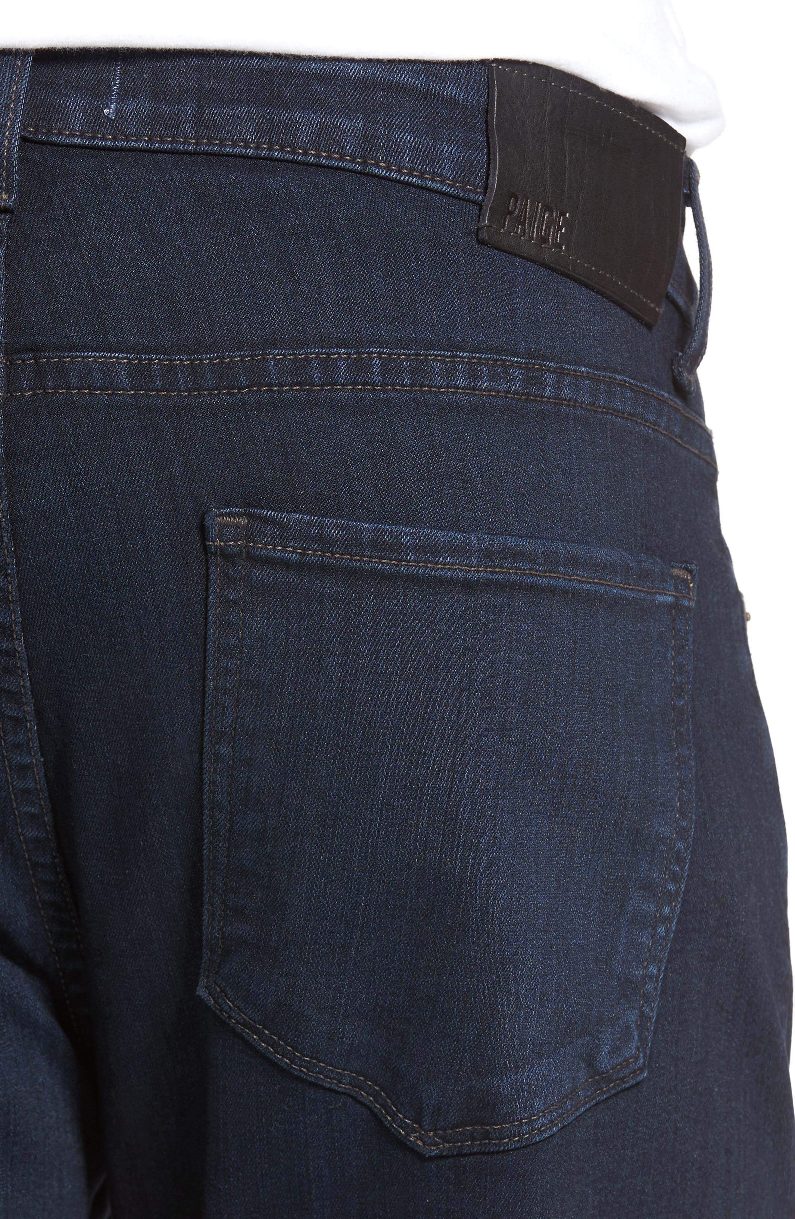 PAIGE,                             Normandie Straight Leg Jeans,                             Alternate thumbnail 4, color,                             ARLO