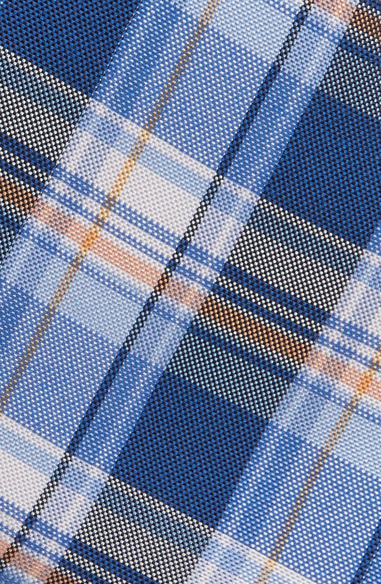 Plaid Silk & Cotton Tie,                             Alternate thumbnail 2, color,                             400