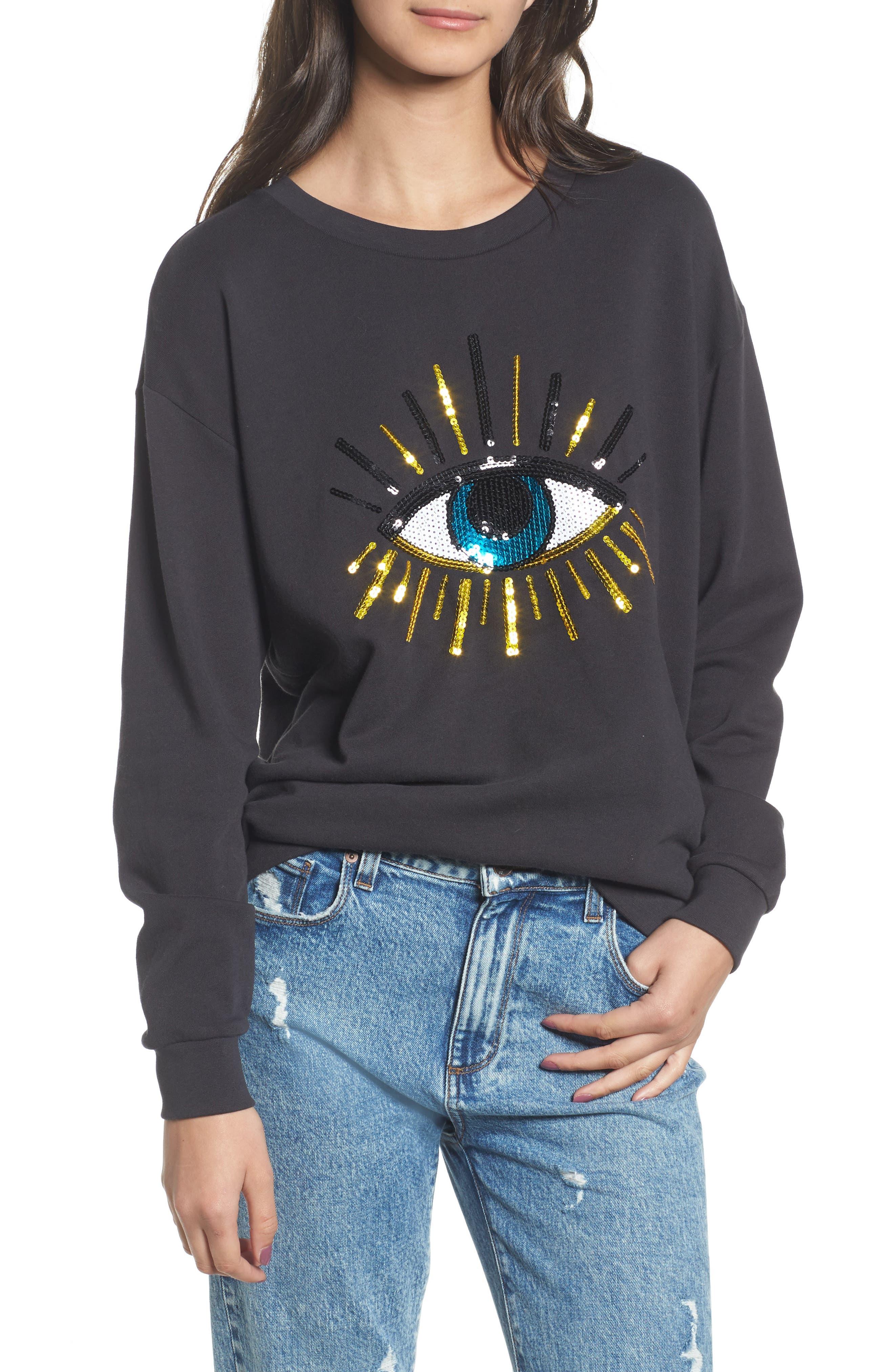 Alexa - Evil Eye Sweatshirt,                             Main thumbnail 1, color,                             001