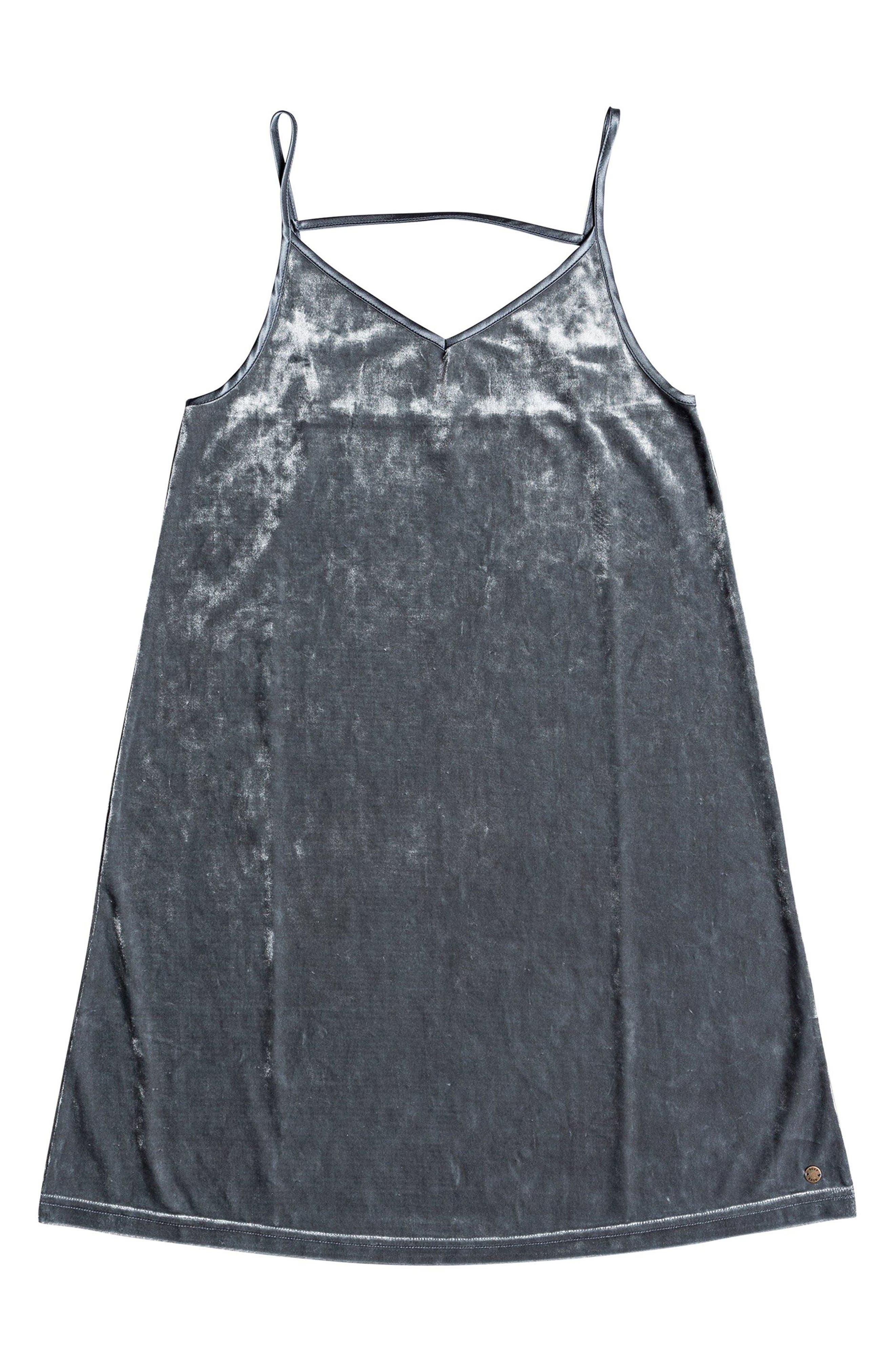 Sleepy Night Crushed Velvet Dress,                             Alternate thumbnail 4, color,                             TURBULENCE