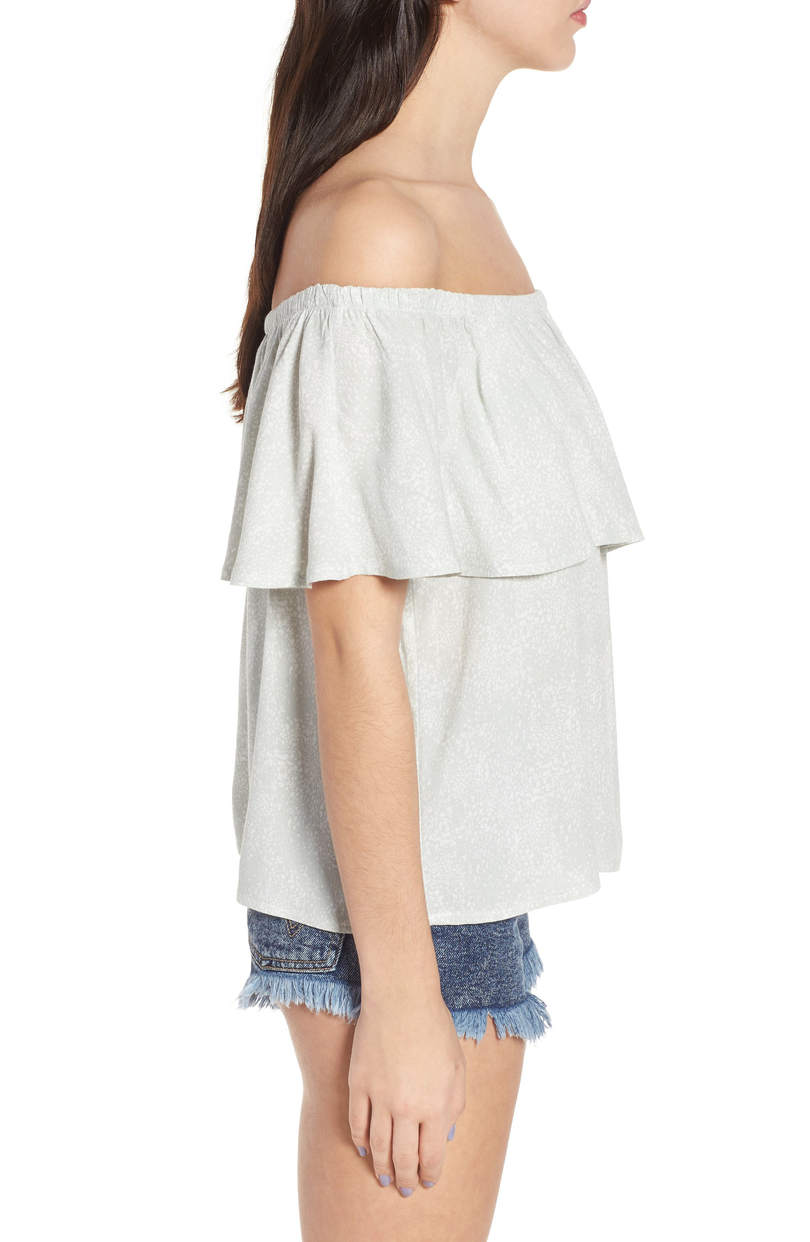 Mary Off the Shoulder Top,                             Alternate thumbnail 6, color,