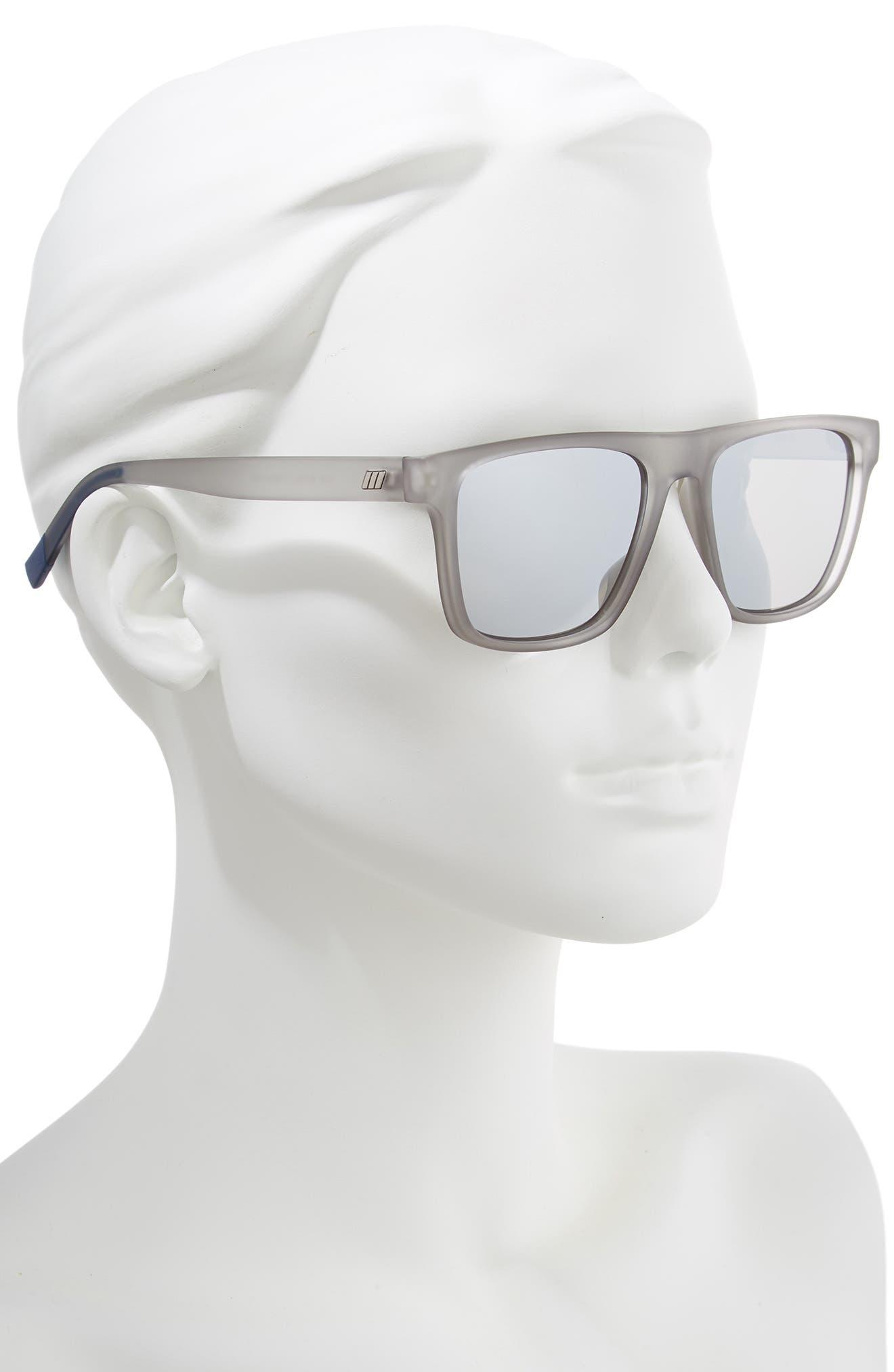 The Boss 55mm Rectangular Sunglasses,                             Alternate thumbnail 2, color,                             MATTE SHADOW