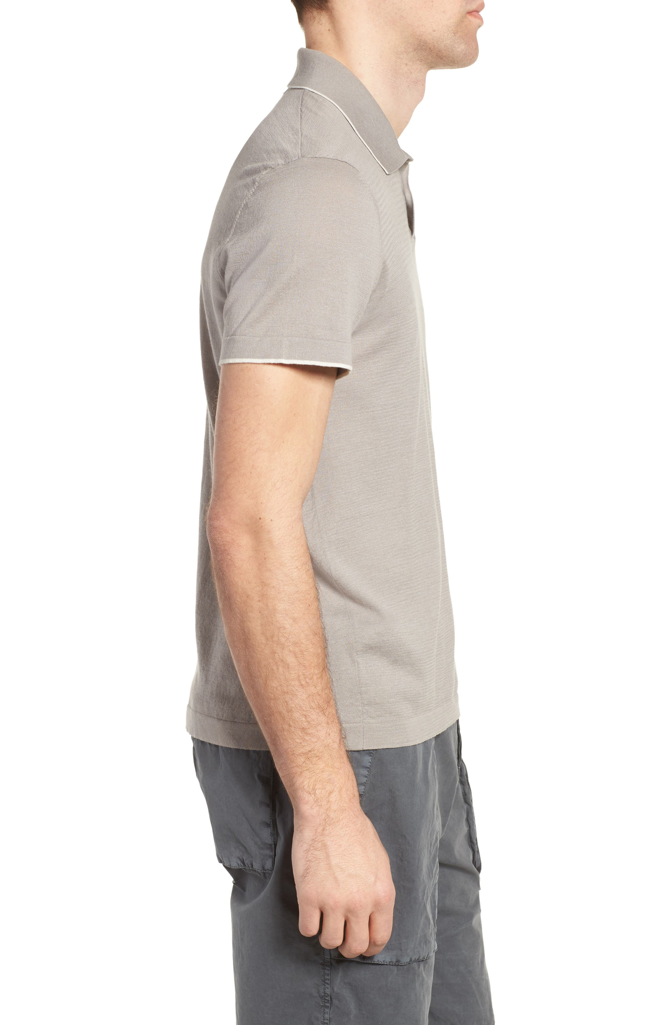 Fine Gauge Tipped Polo,                             Alternate thumbnail 9, color,