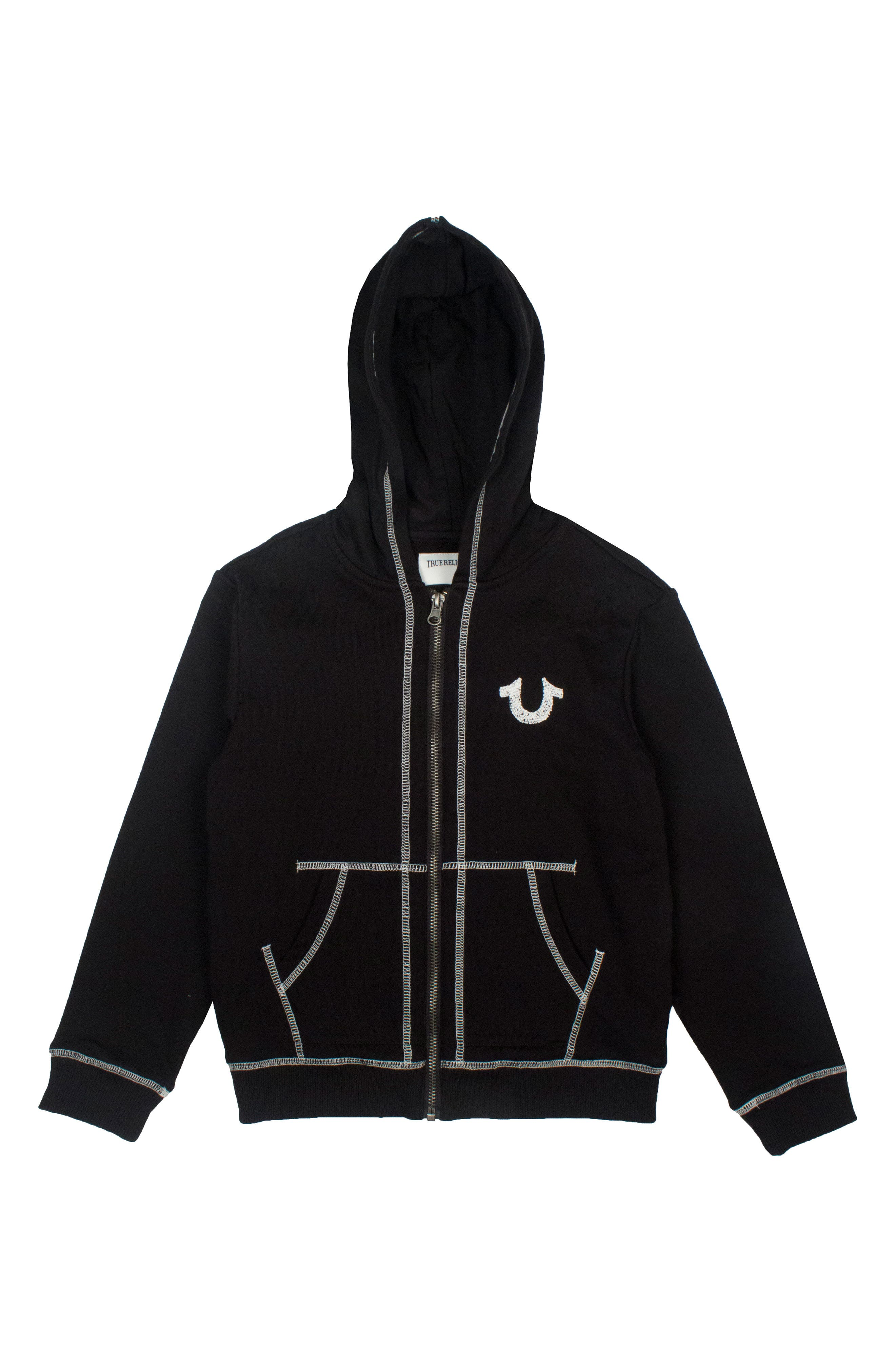 Shoe String Zip Hoodie,                             Alternate thumbnail 2, color,                             001
