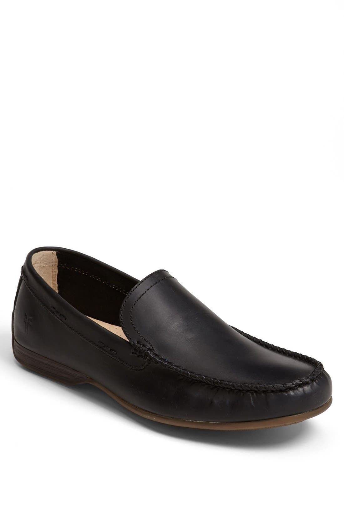 'Lewis' Venetian Loafer,                         Main,                         color, BLACK