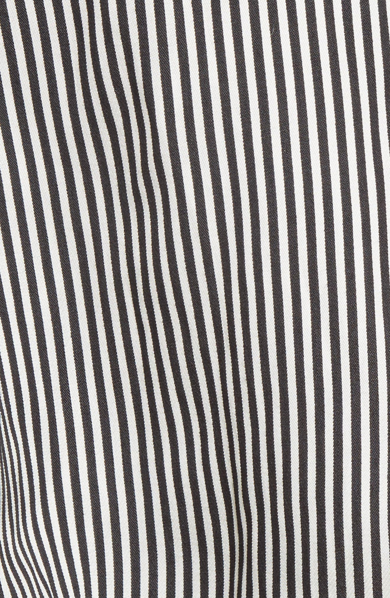 Asymmetrical Pinstripe Shirt,                             Alternate thumbnail 5, color,                             001