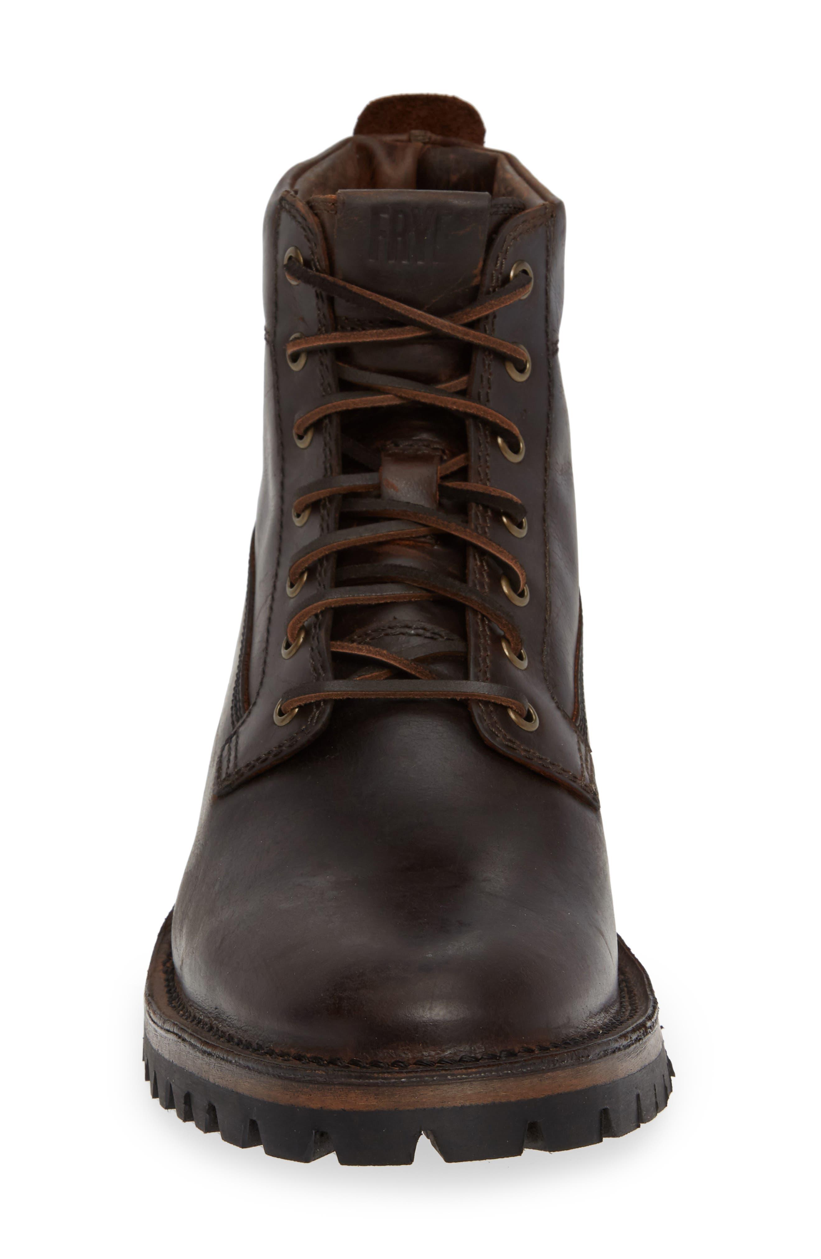 Union Plain Toe Boot,                             Alternate thumbnail 4, color,                             DARK BROWN