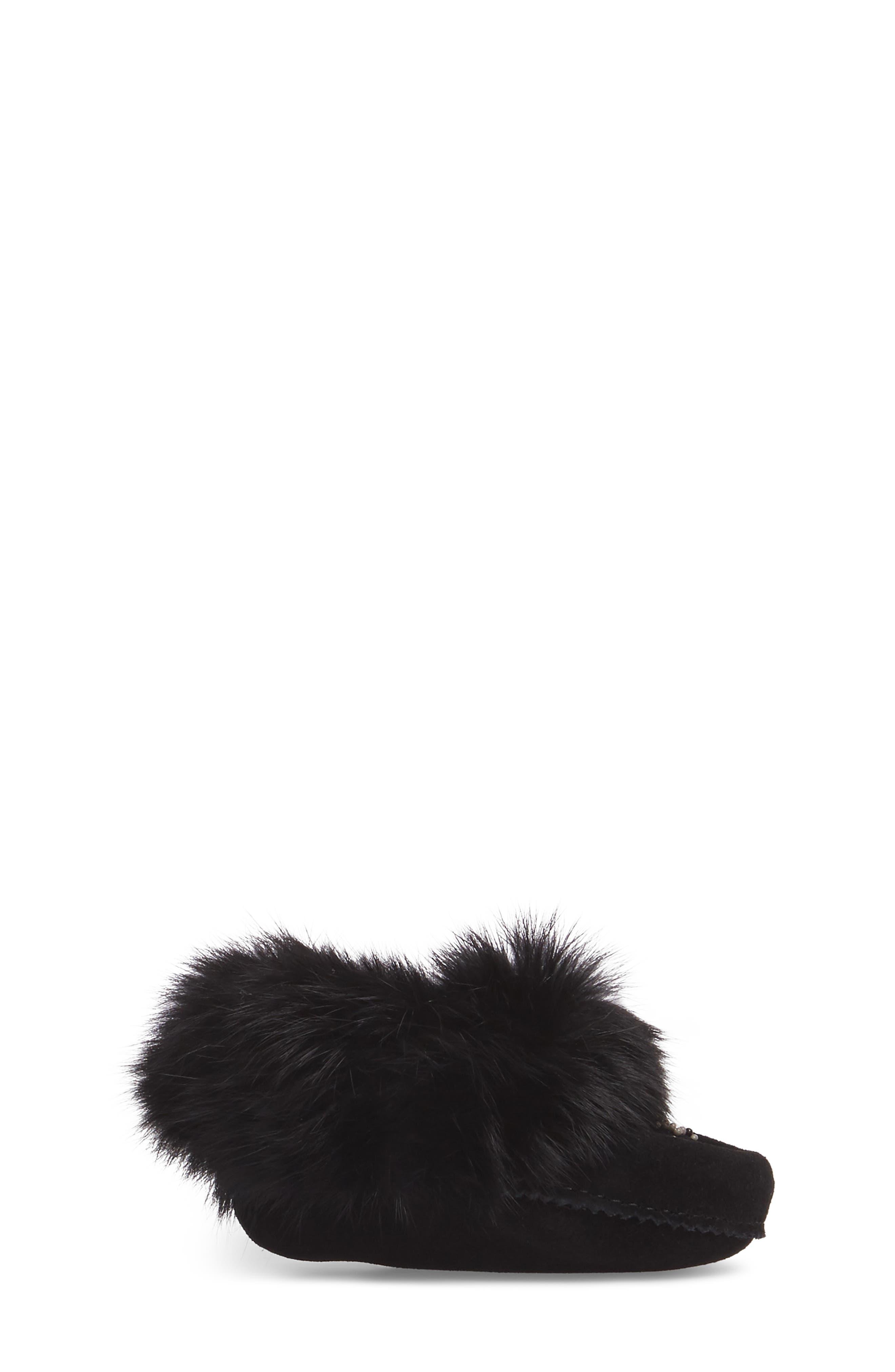 Genuine Rabbit Fur Moccasin,                             Alternate thumbnail 12, color,