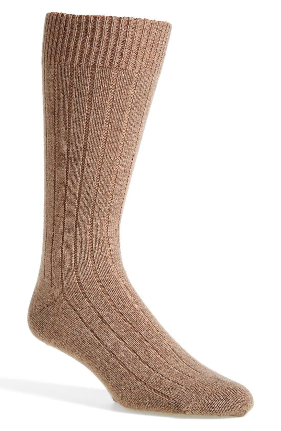 'Waddington' Cashmere Blend Mid Calf Socks,                             Main thumbnail 7, color,