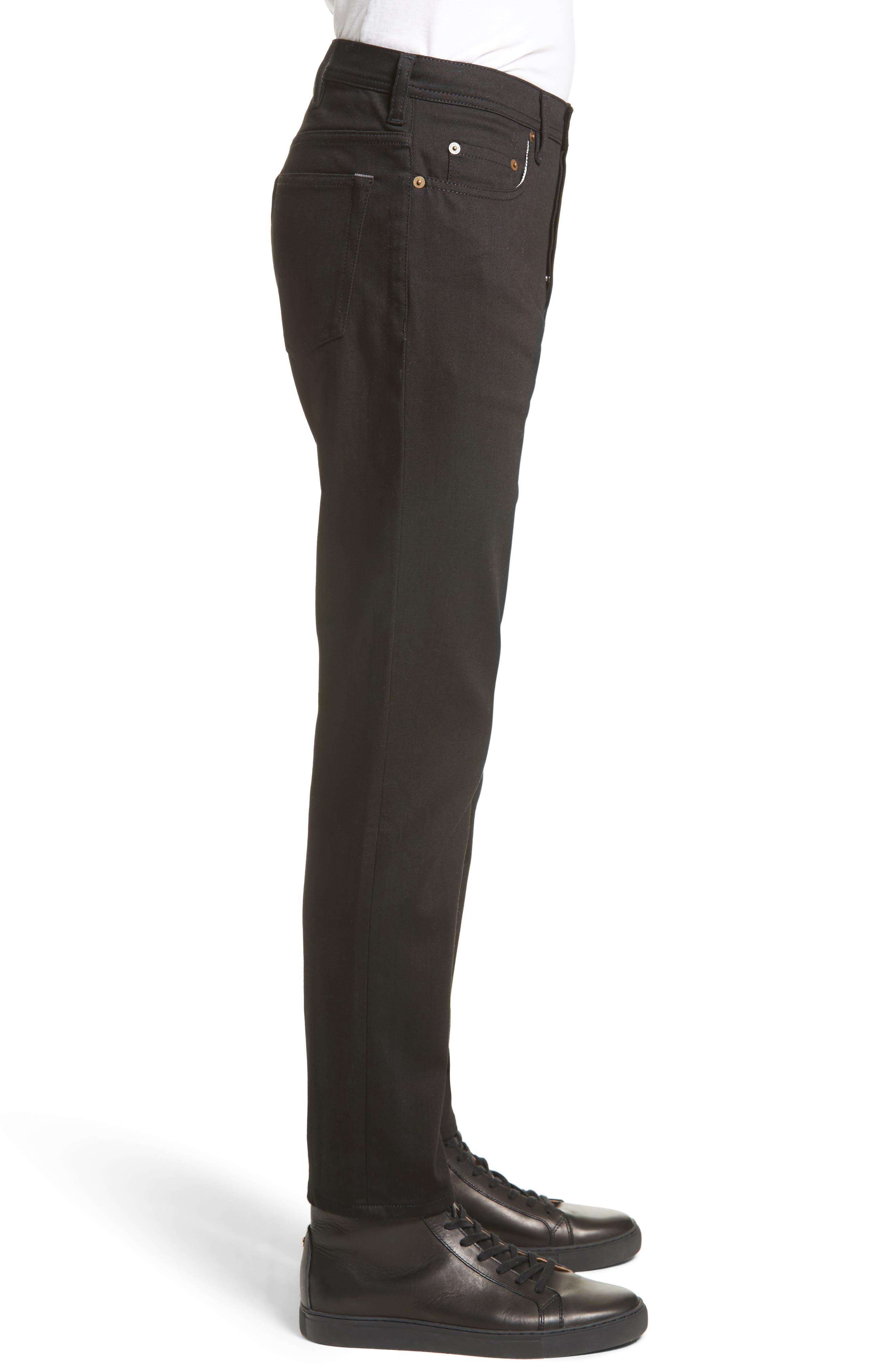River Slim Taper Jeans,                             Alternate thumbnail 3, color,                             BLACK