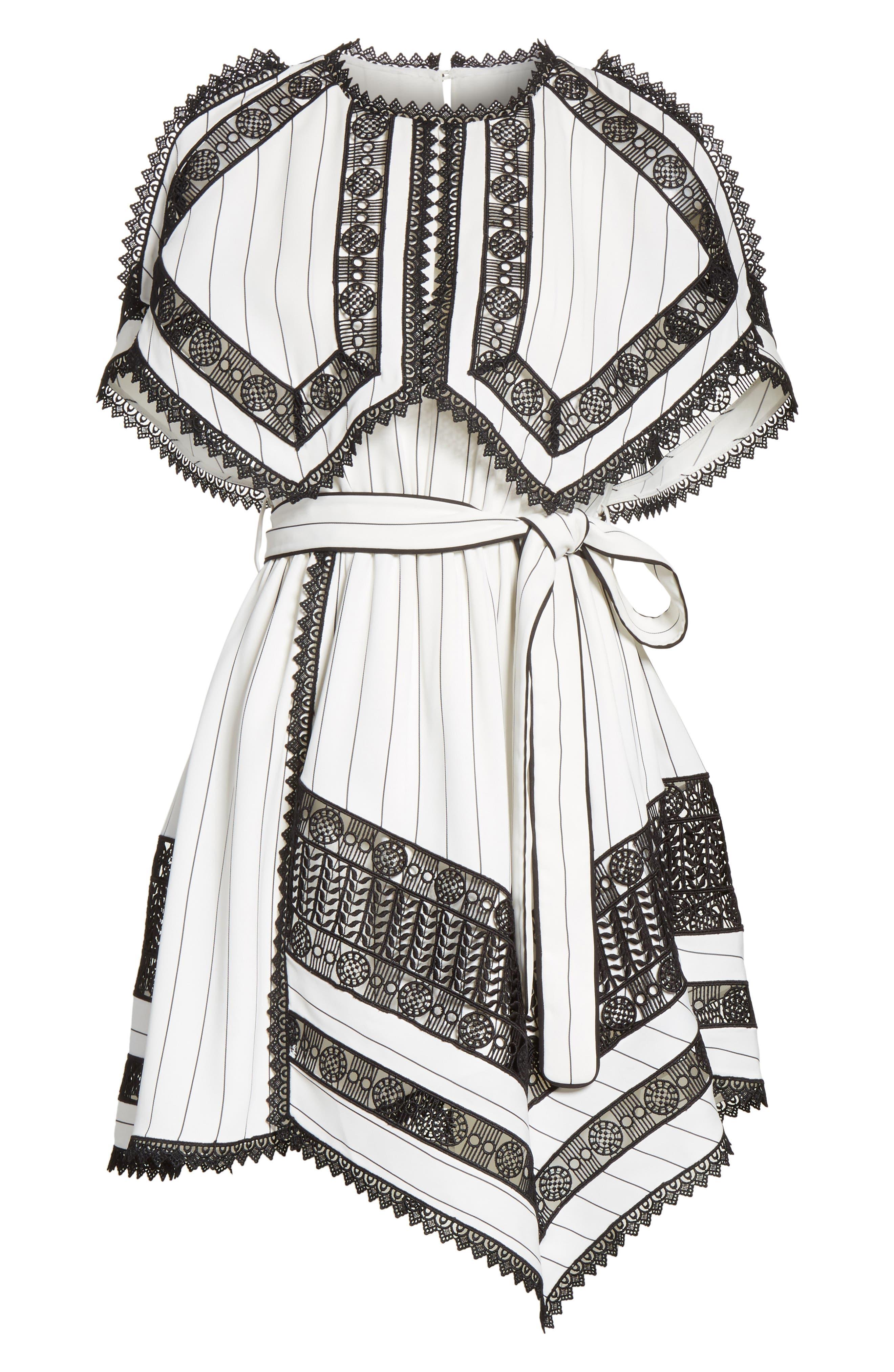 Lace Trim Handkerchief Hem Dress,                             Alternate thumbnail 6, color,