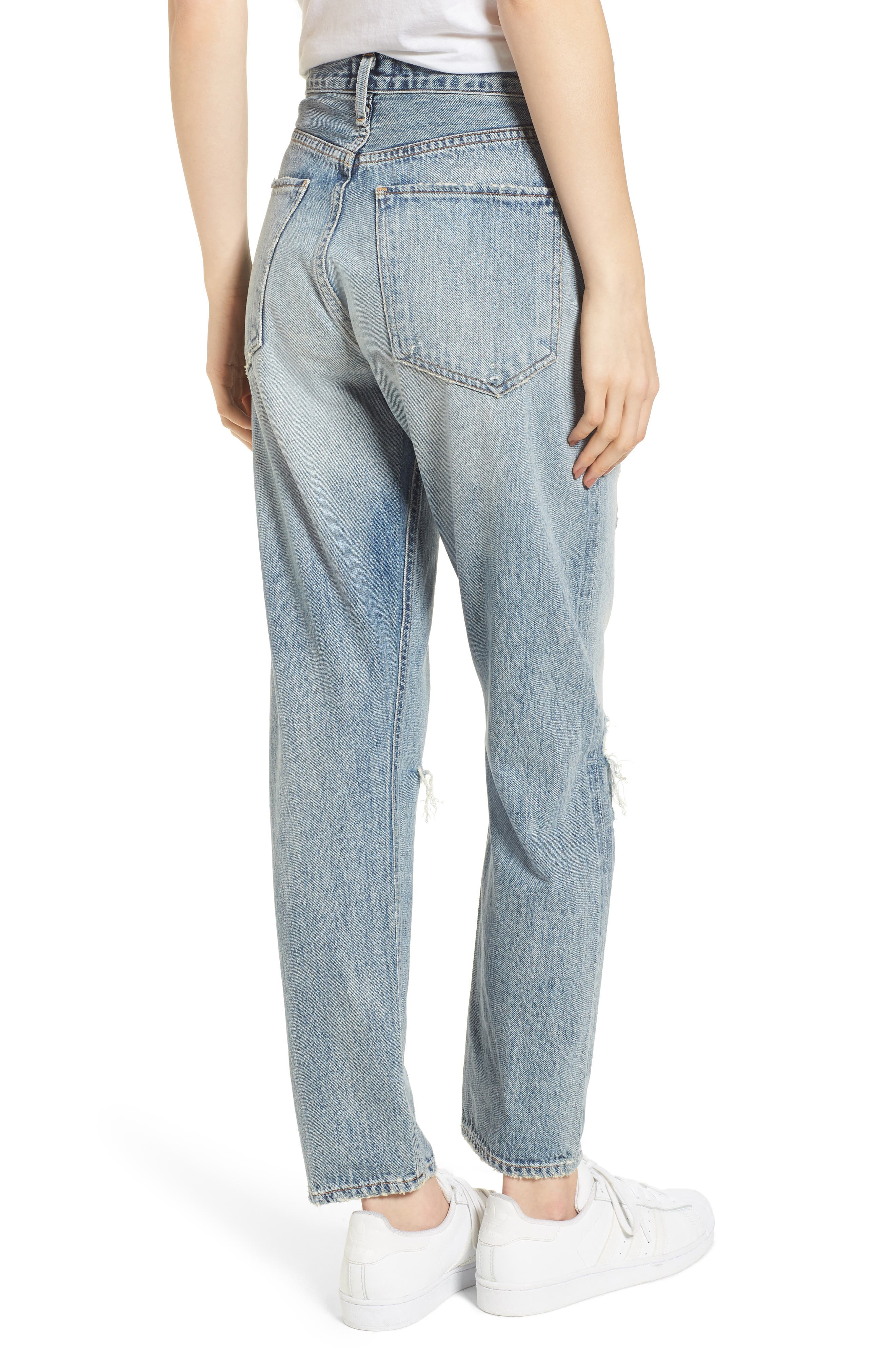 Jamie High Waist Ankle Jeans,                             Alternate thumbnail 2, color,                             RESOLUTION