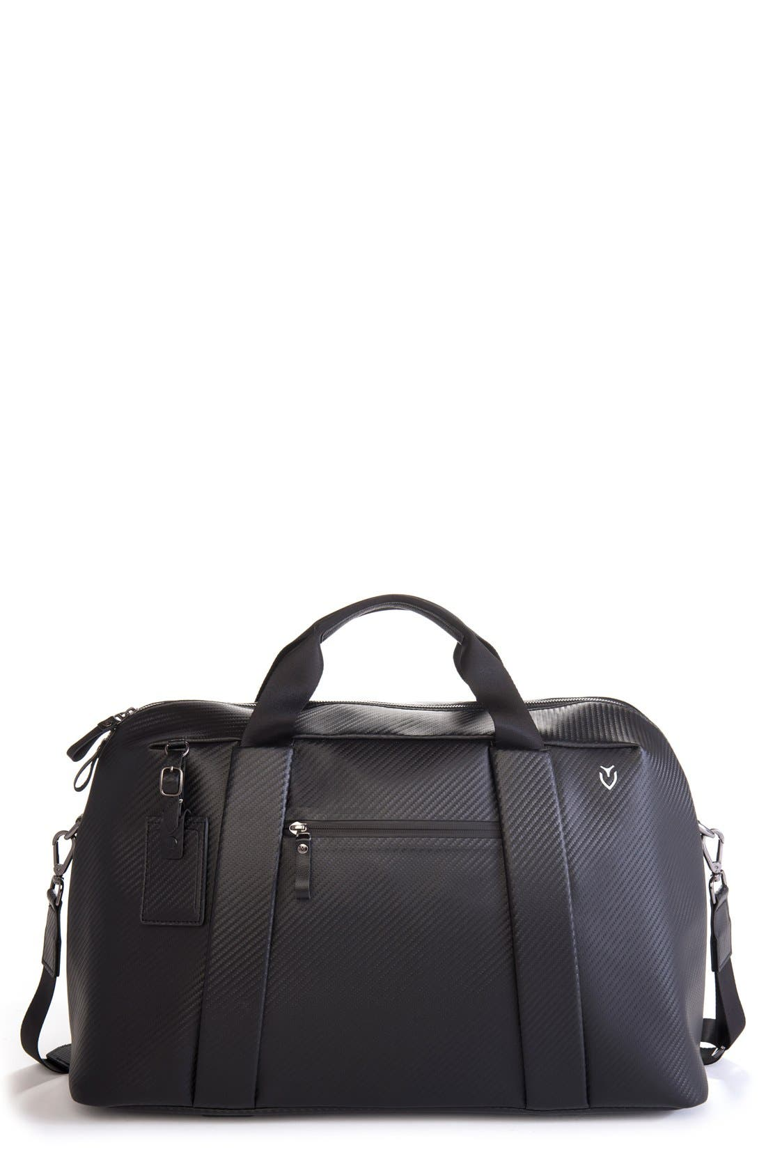'Signature' Large Duffel Bag,                             Main thumbnail 1, color,                             CARBON BLACK