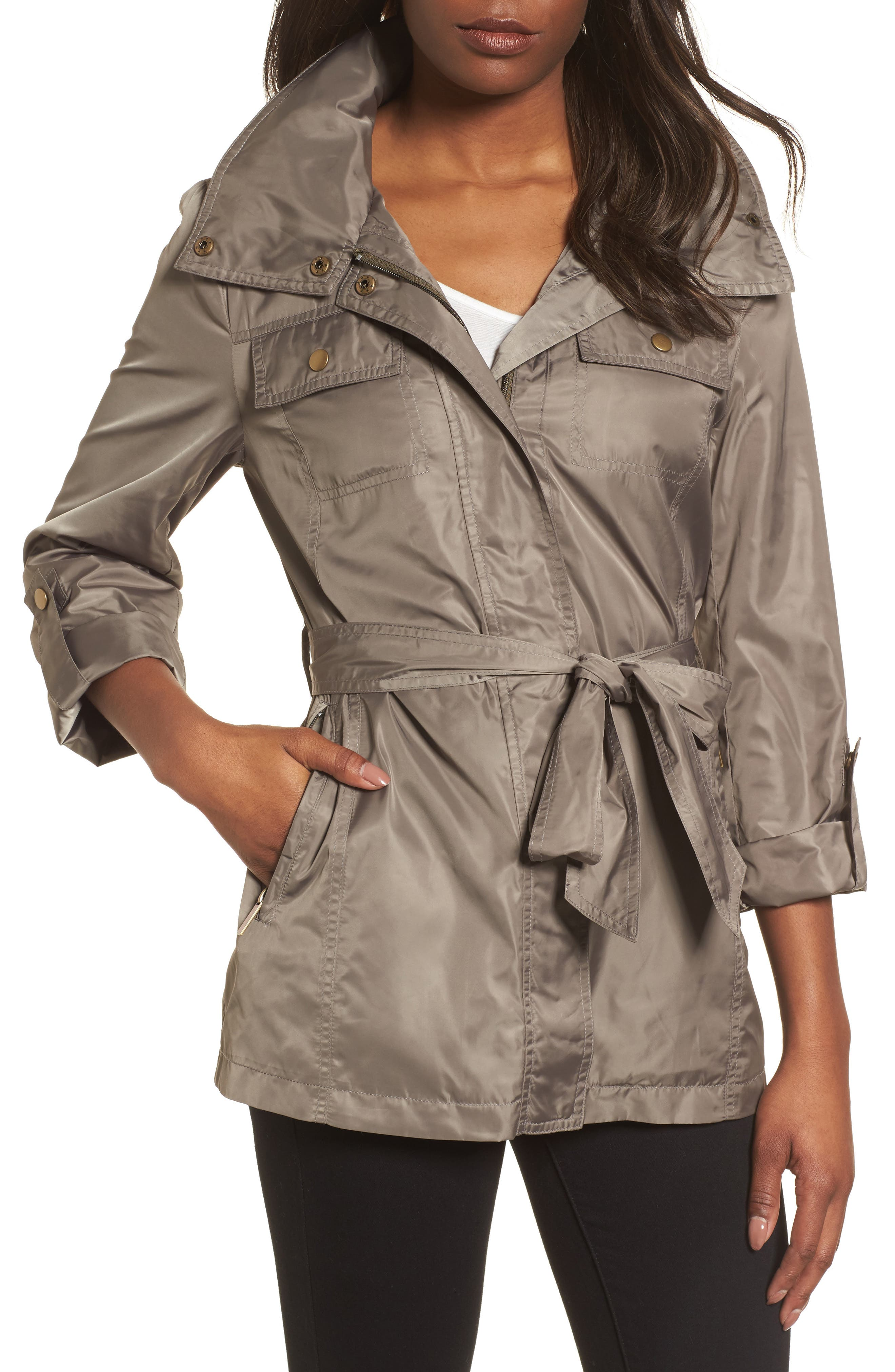 Belted Lightweight Jacket,                             Main thumbnail 2, color,