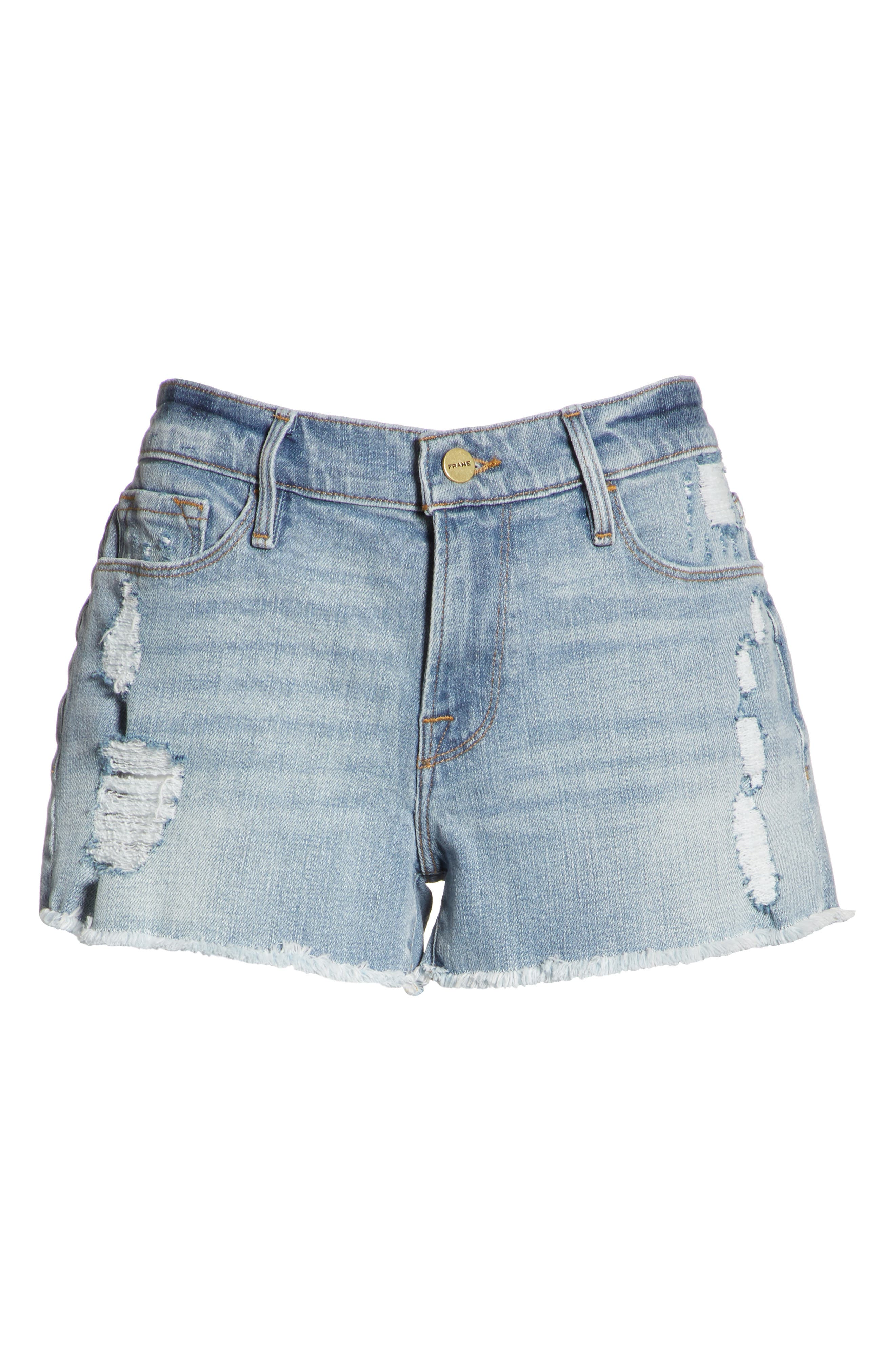 Le Cutoff Denim Shorts,                             Alternate thumbnail 7, color,                             TAFFORD