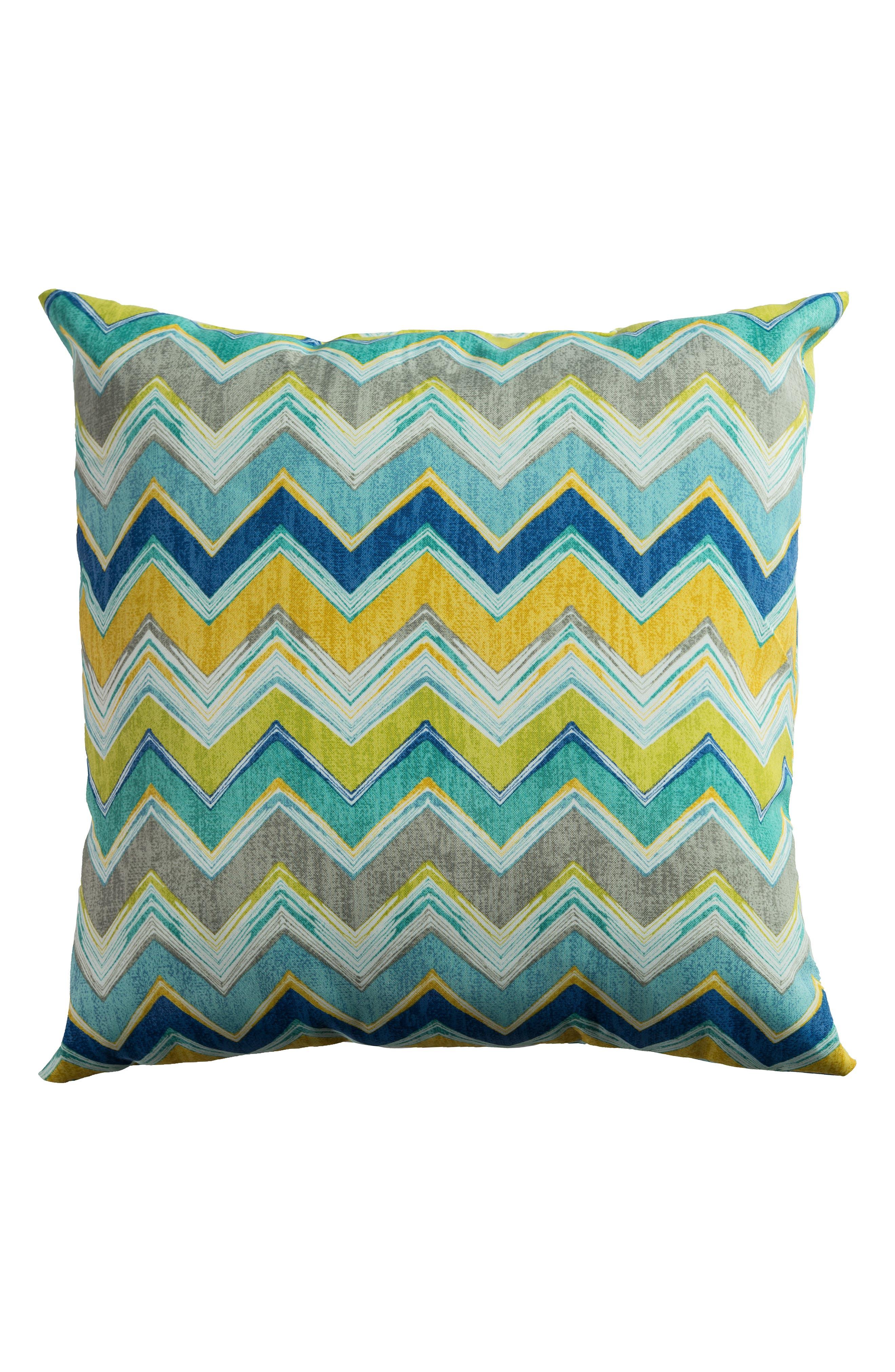 Chevron Outdoor Pillow,                             Alternate thumbnail 9, color,