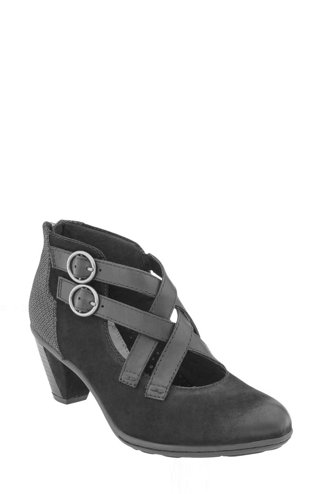 'Amber' Buckle Bootie,                             Main thumbnail 3, color,