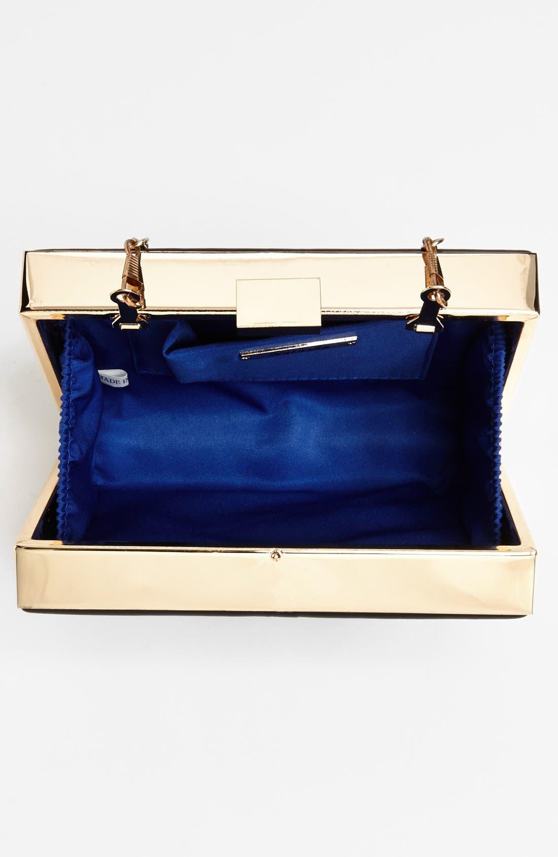 Couture Box Clutch,                             Alternate thumbnail 2, color,                             001