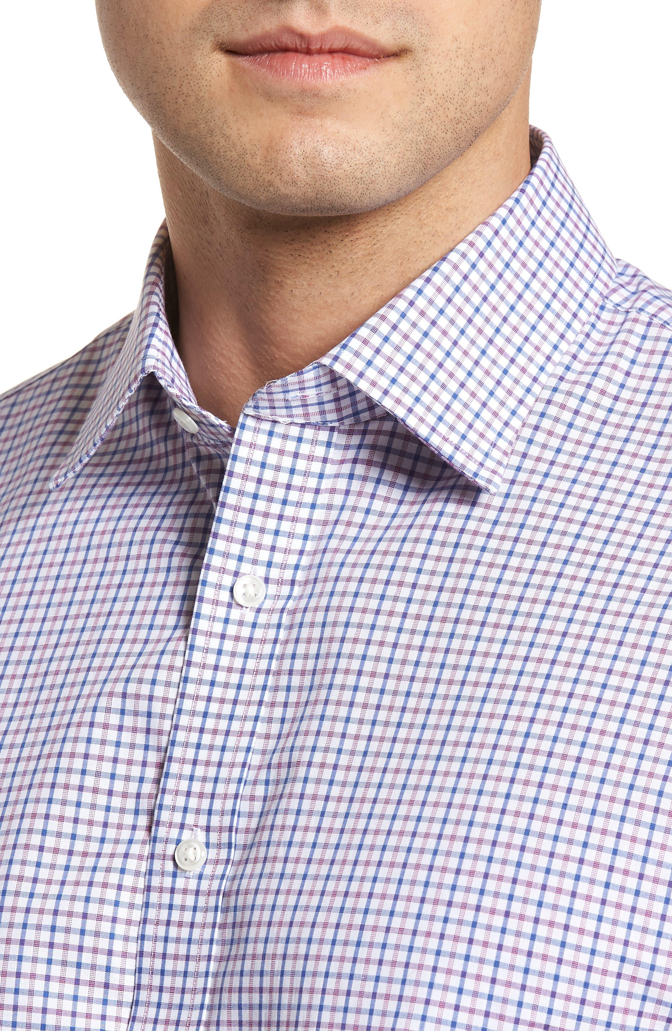 Classic Fit Check Dress Shirt,                             Alternate thumbnail 8, color,