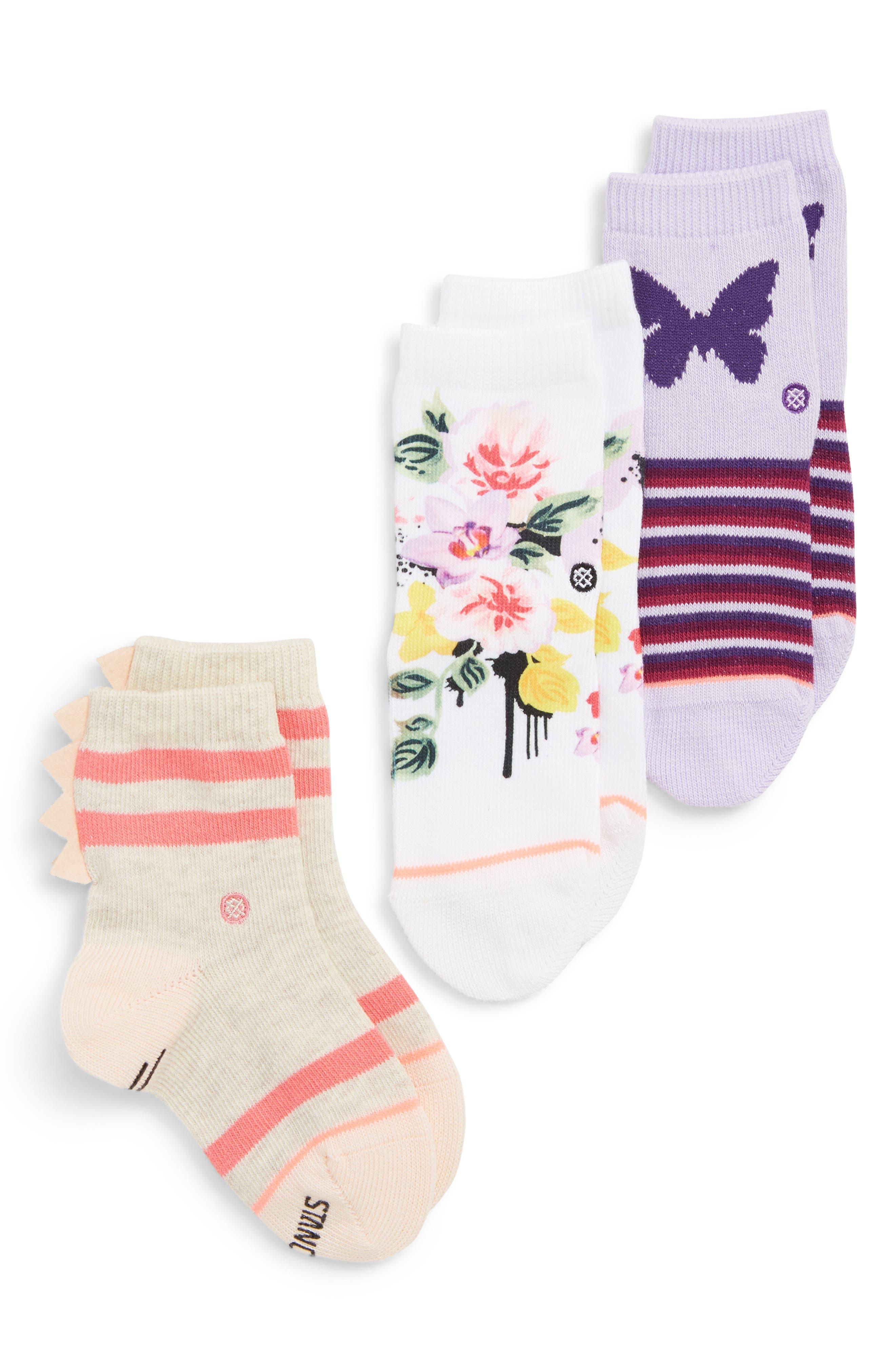 Just Dandy 3-Pack Crew Socks,                             Main thumbnail 1, color,                             PURPLE MULTI