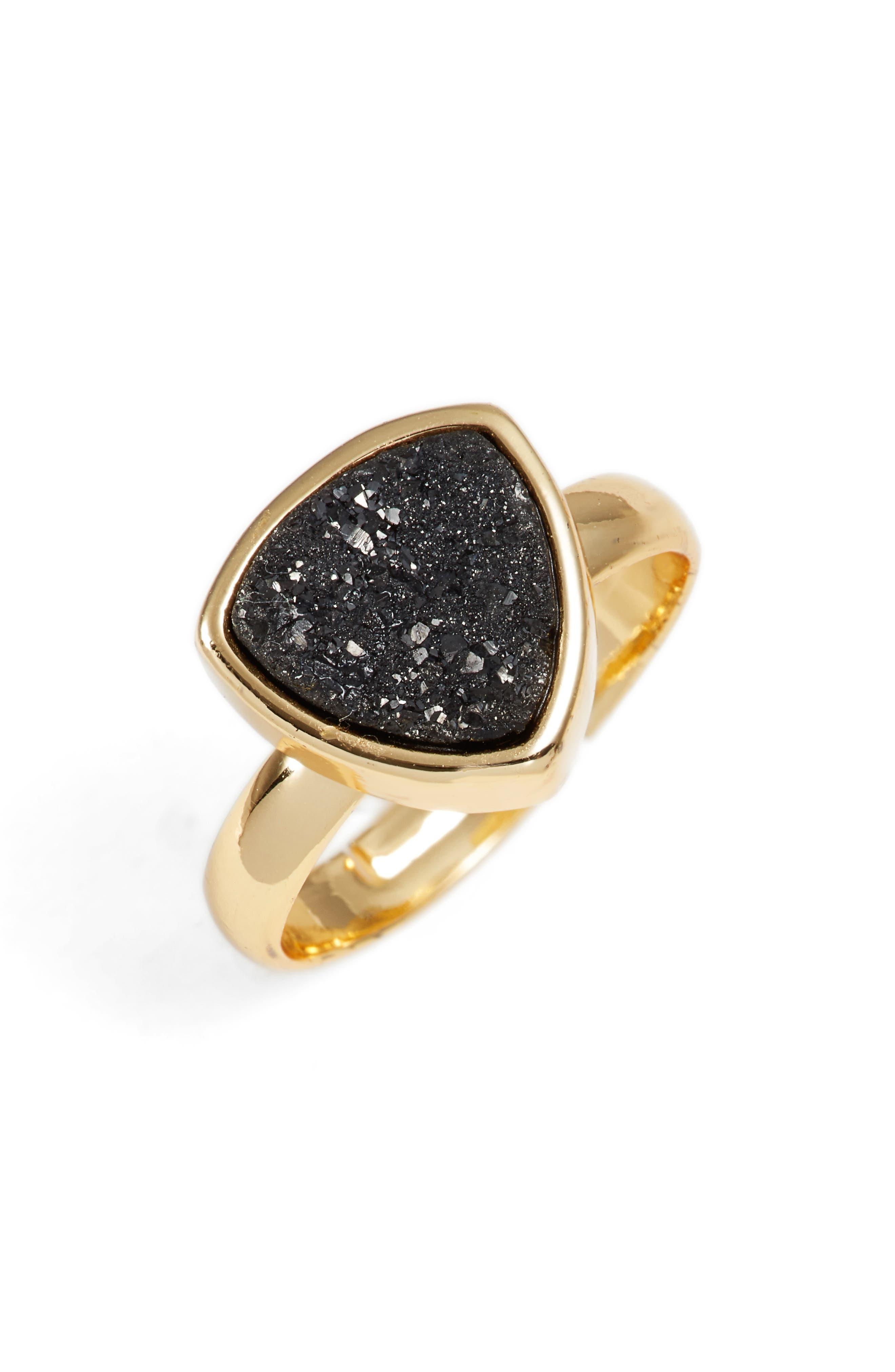 Sabrina Drusy Quartz Ring,                         Main,                         color, 001