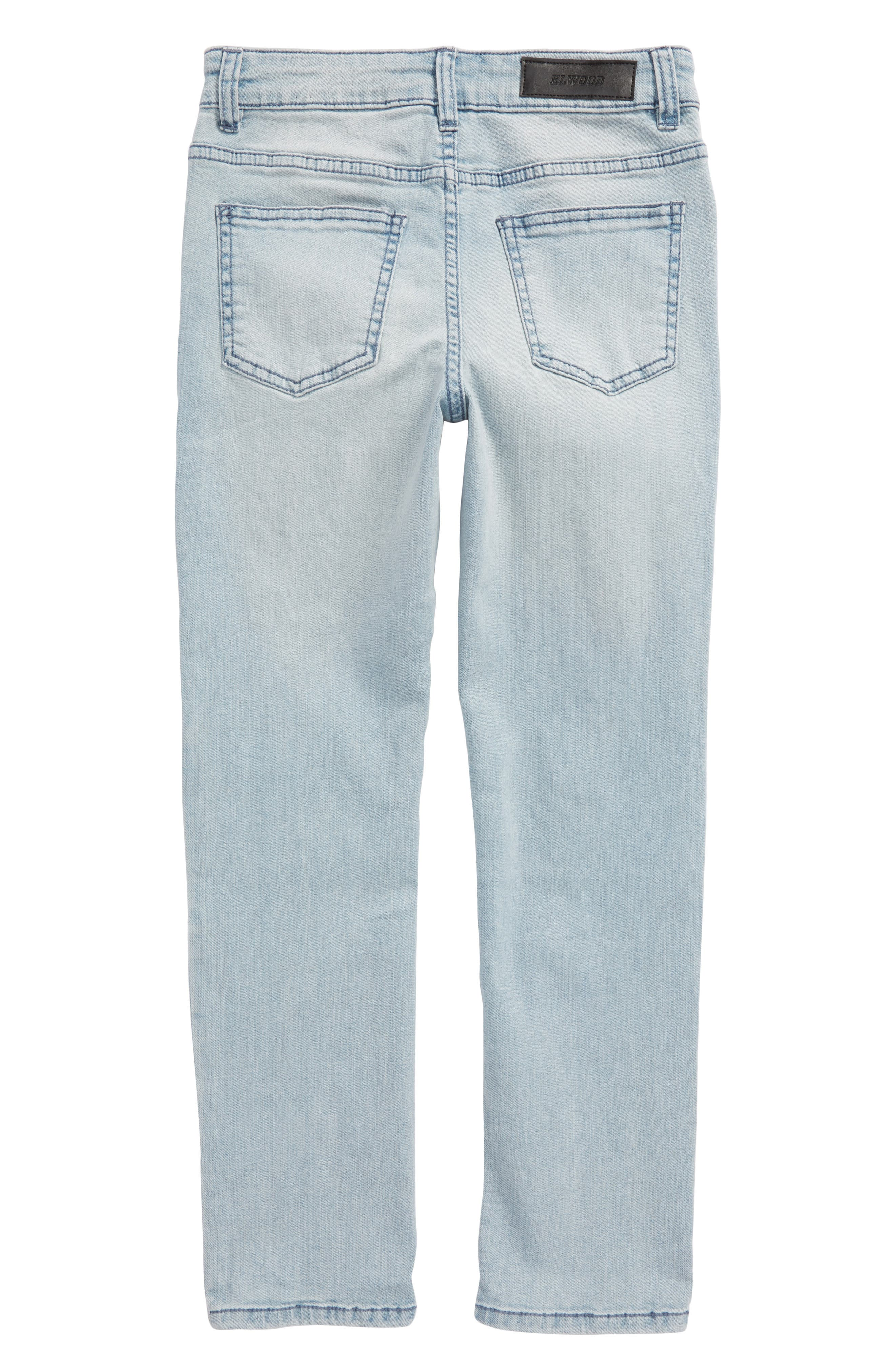 Straight Leg Moto Jeans,                             Alternate thumbnail 4, color,