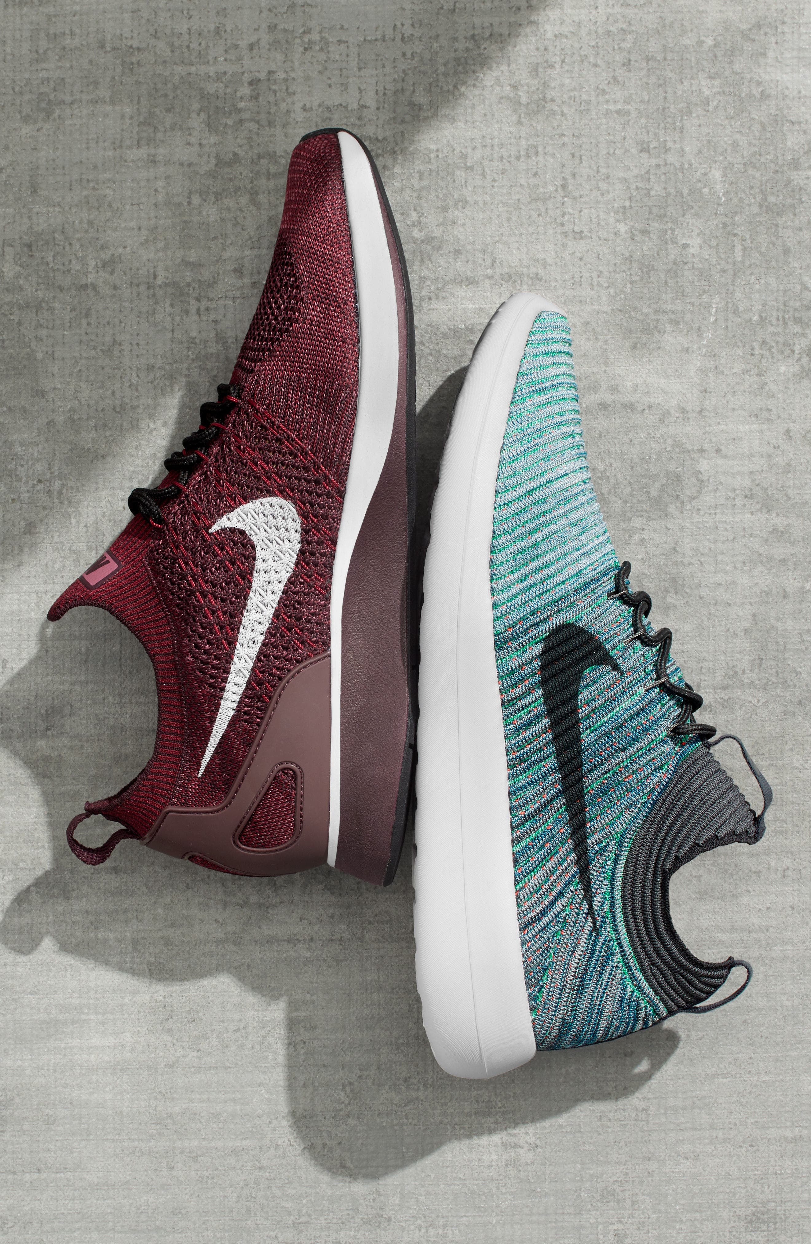 Air Zoom Mariah Flyknit Racer Sneaker,                             Alternate thumbnail 8, color,                             OCEAN FOG/ BLUE/ WHITE