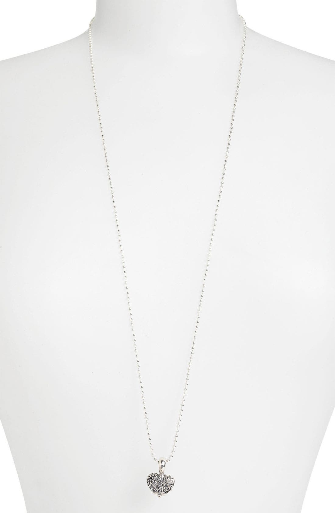 'Hearts of Lagos - Texas' Long Pendant Necklace,                         Main,                         color, HEART OF TEXAS