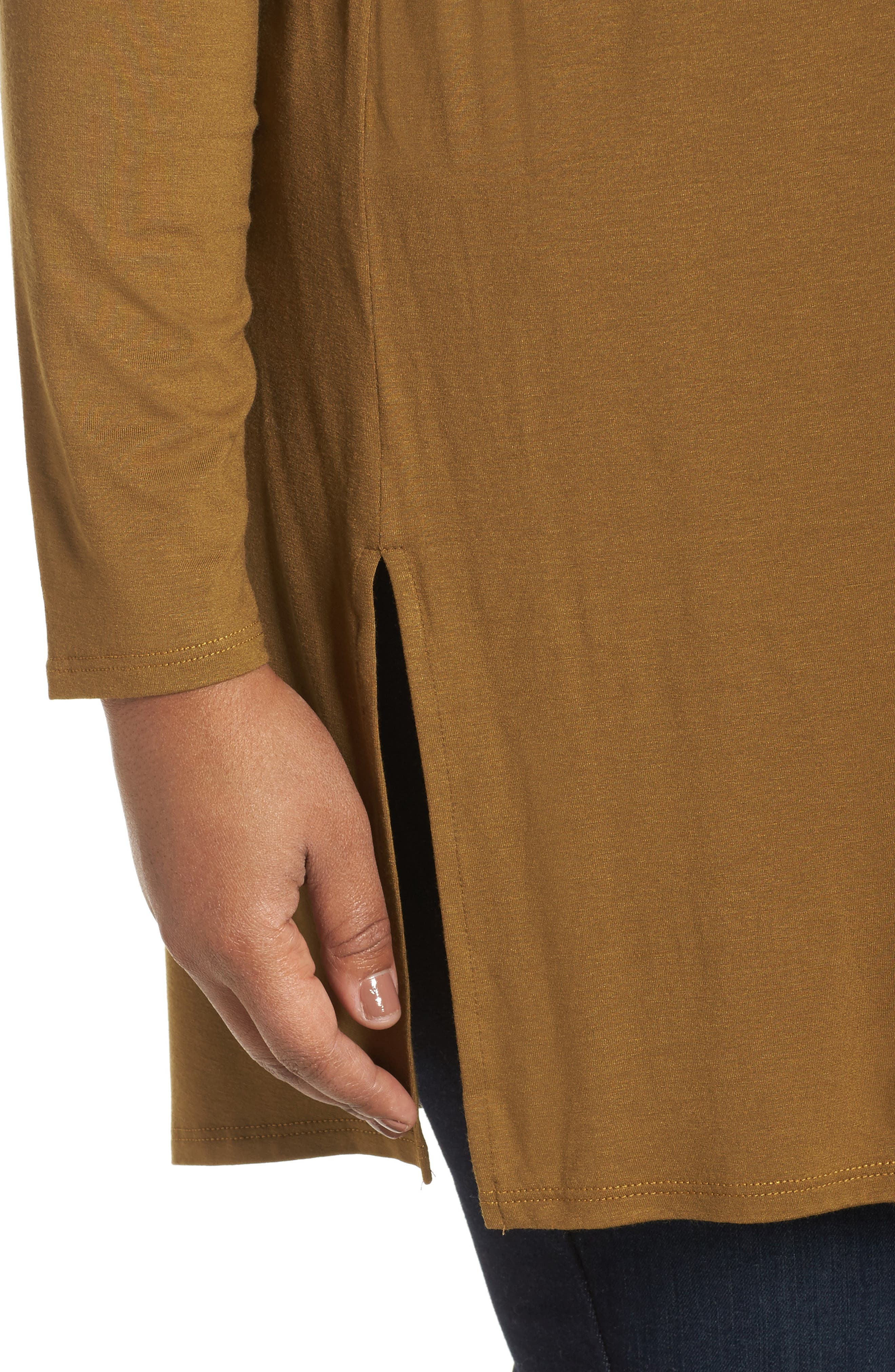 Round Neck Jersey Tunic,                             Alternate thumbnail 8, color,
