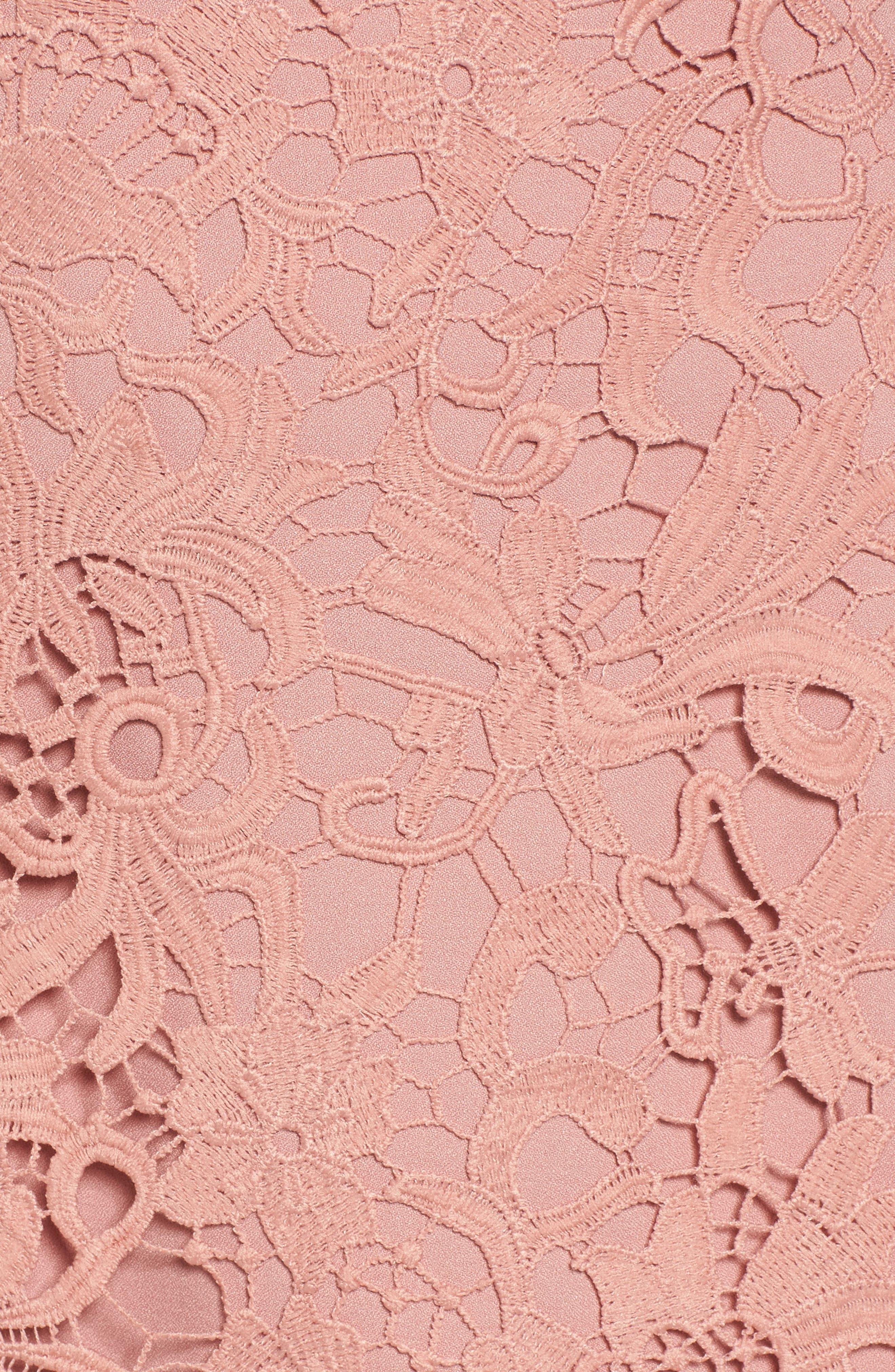 Lace Minidress,                             Alternate thumbnail 5, color,