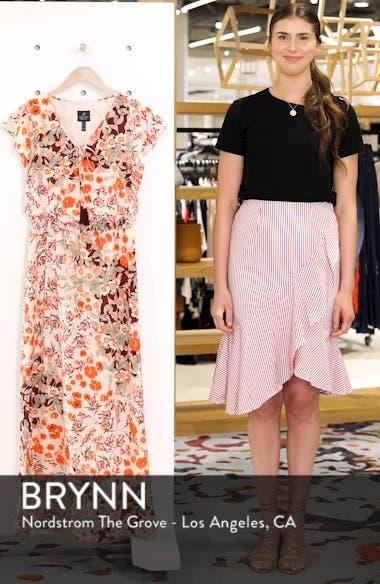 Floral Ruffle Sleeve Maxi Dress, sales video thumbnail