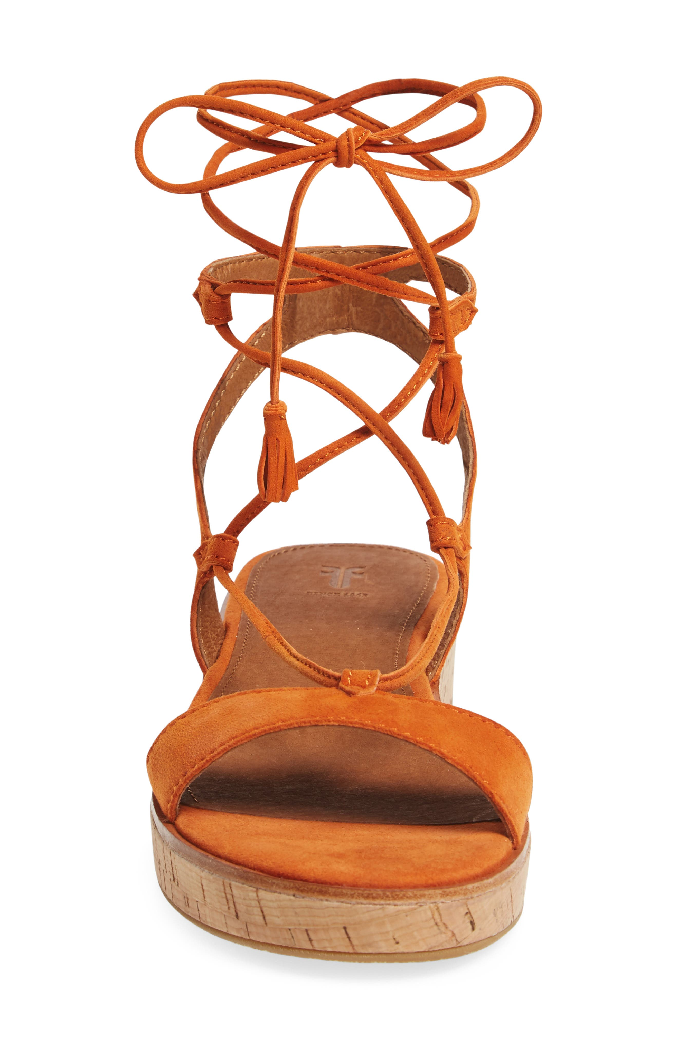 Miranda Gladiator Platform Sandal,                             Alternate thumbnail 4, color,                             ORANGE