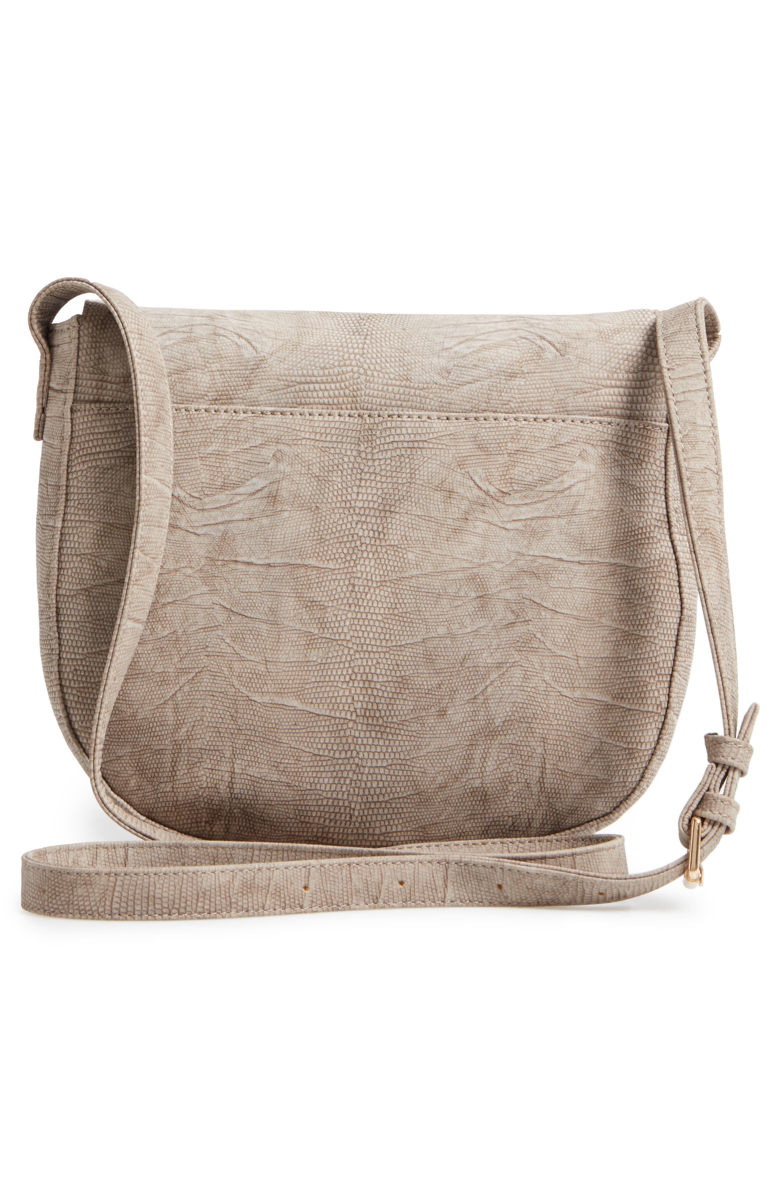 Livvy Faux Leather Crossbody Saddle Bag,                             Alternate thumbnail 3, color,                             250