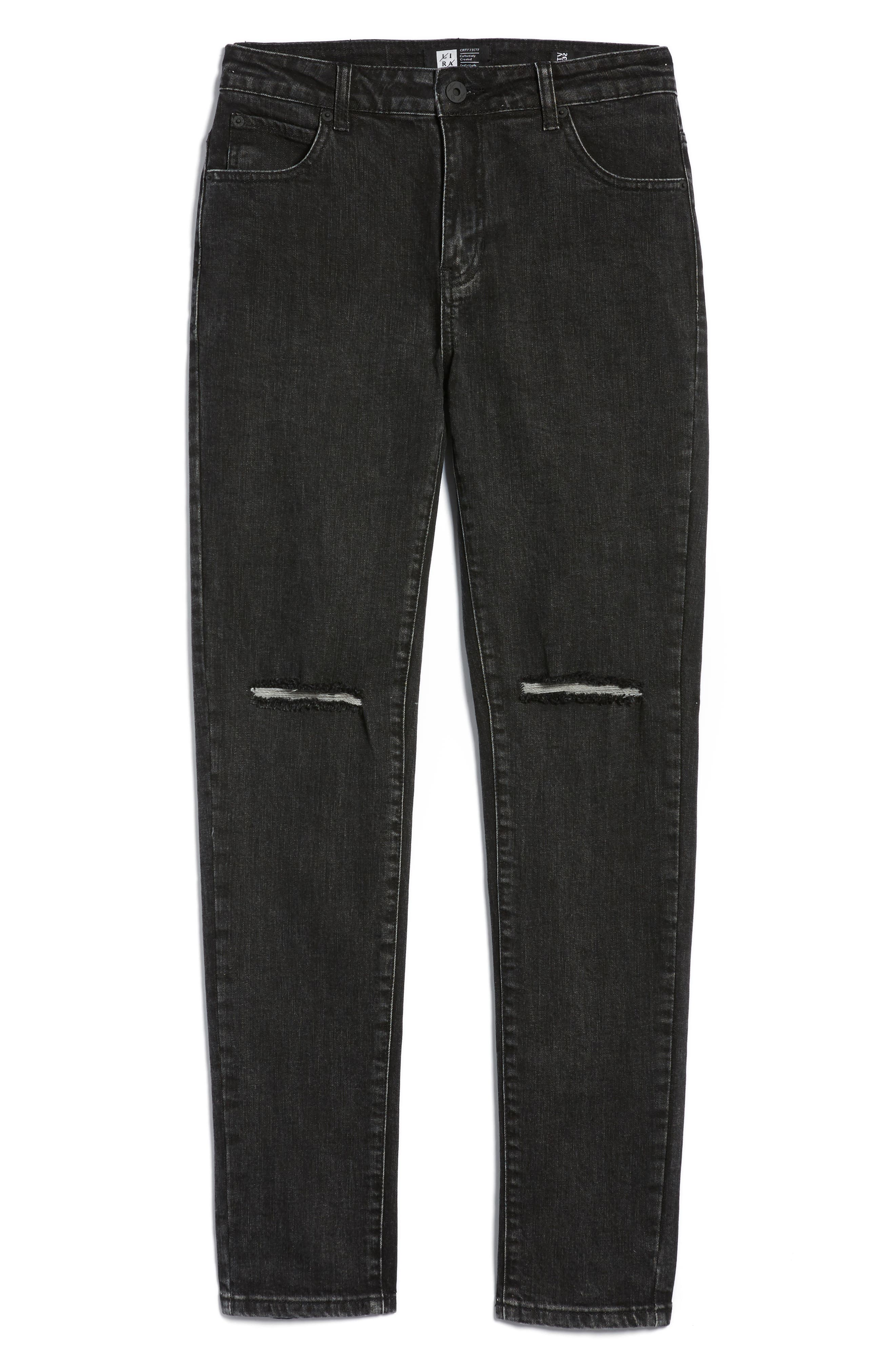 Baxter Ripped Jeans,                             Alternate thumbnail 6, color,                             001
