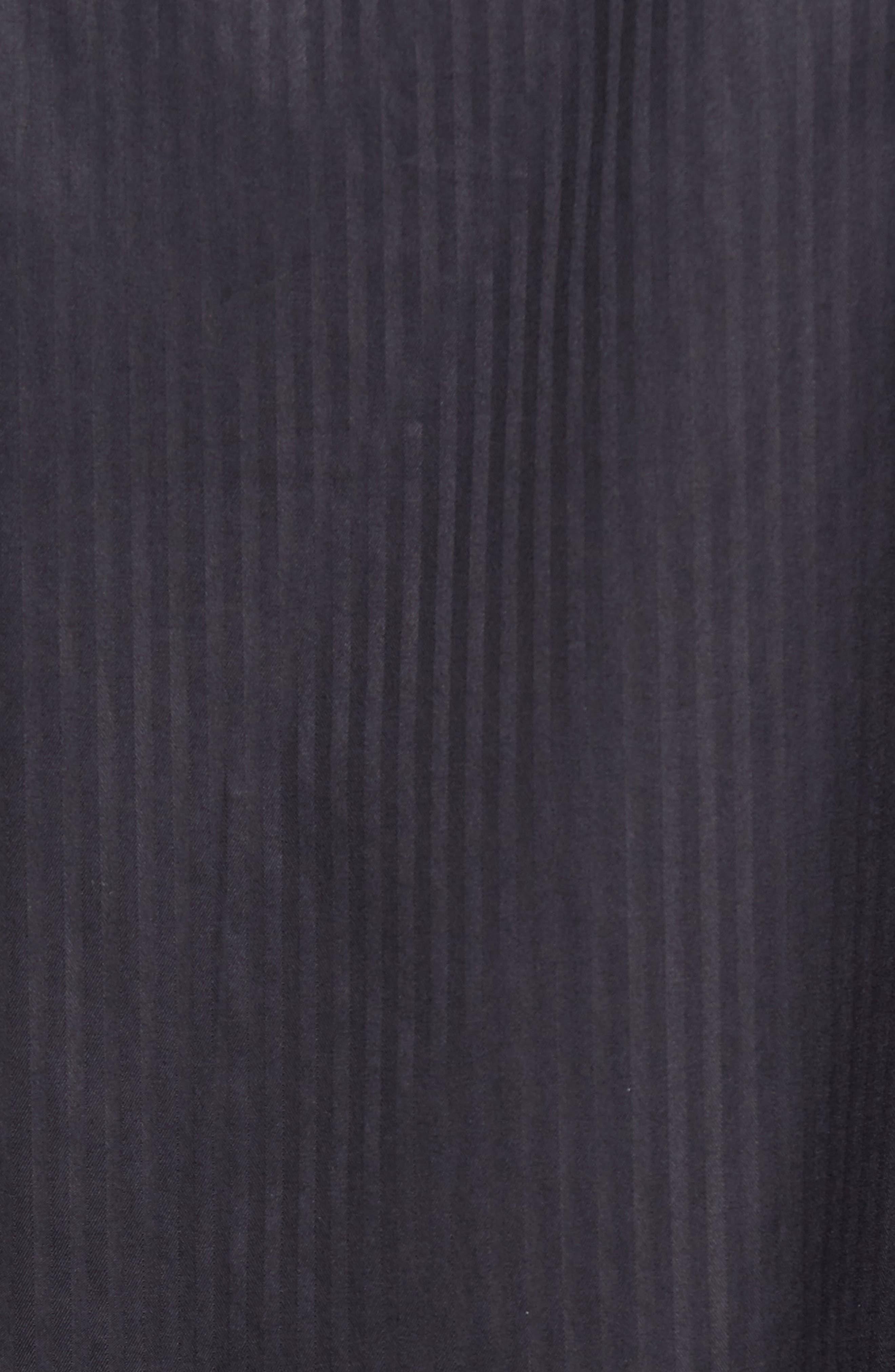 Tonal Stripe Sport Shirt,                             Alternate thumbnail 5, color,                             BLACK