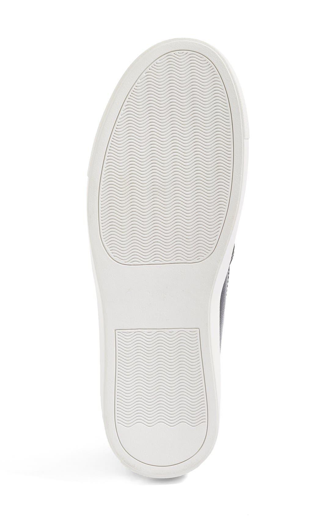 Eden Perforated Slip-On Sneaker,                             Alternate thumbnail 5, color,                             001