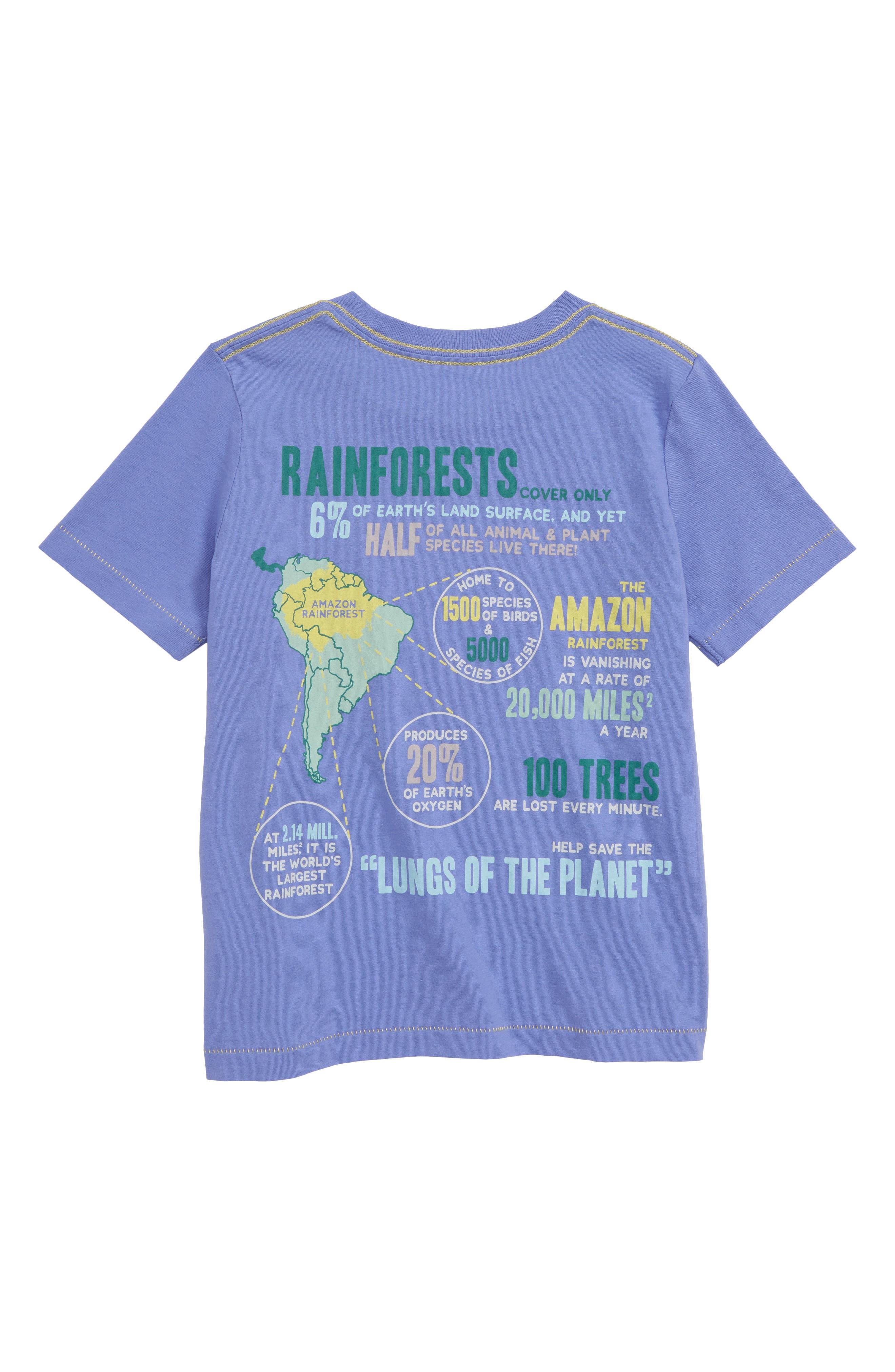 PEEK AREN'T YOU CURIOUS,                             Rain Forest T-Shirt,                             Alternate thumbnail 2, color,                             PURPLE