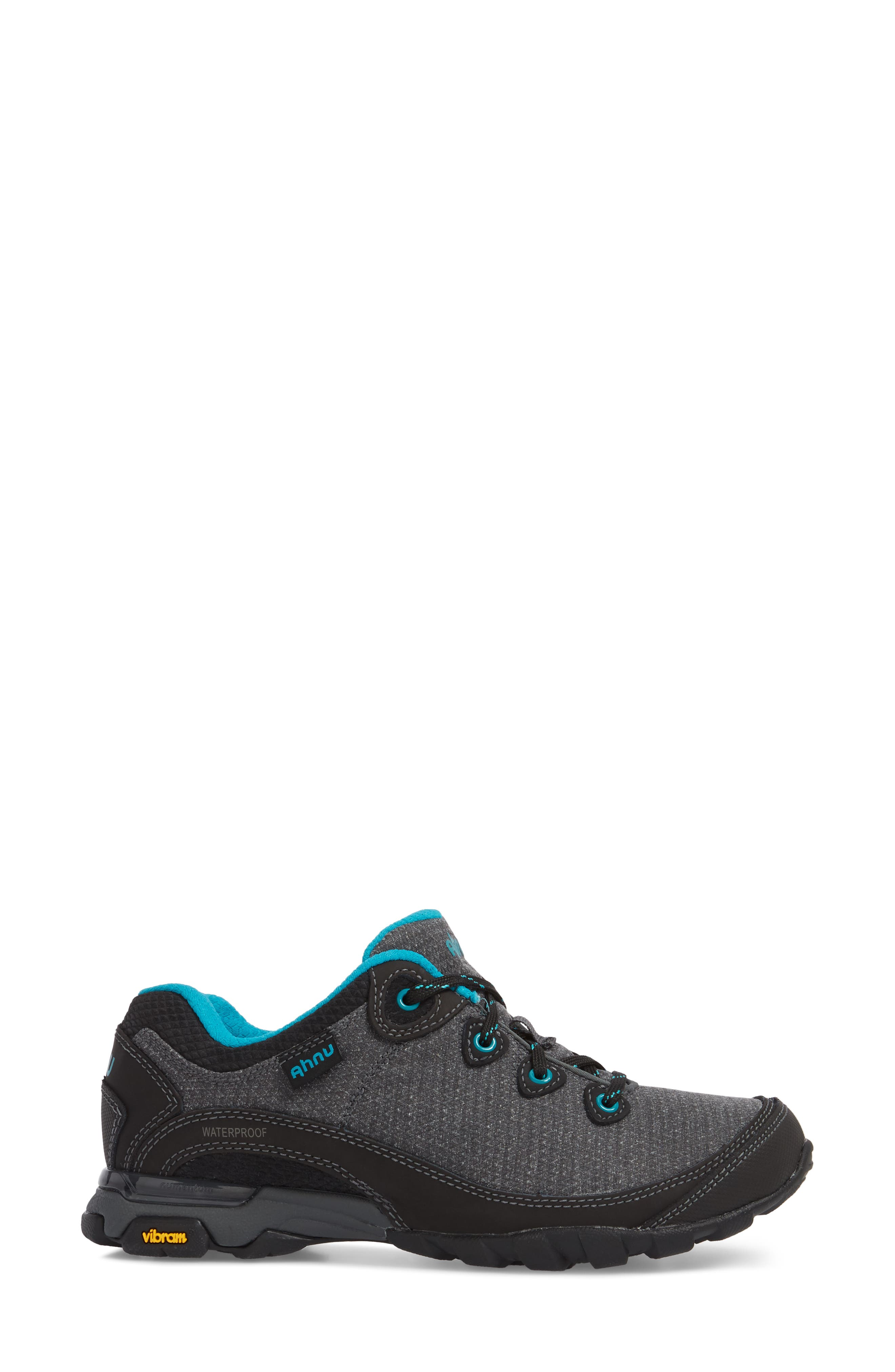 Ahnu by Teva Sugarpine II Waterproof Hiking Sneaker,                             Alternate thumbnail 3, color,                             BLACK