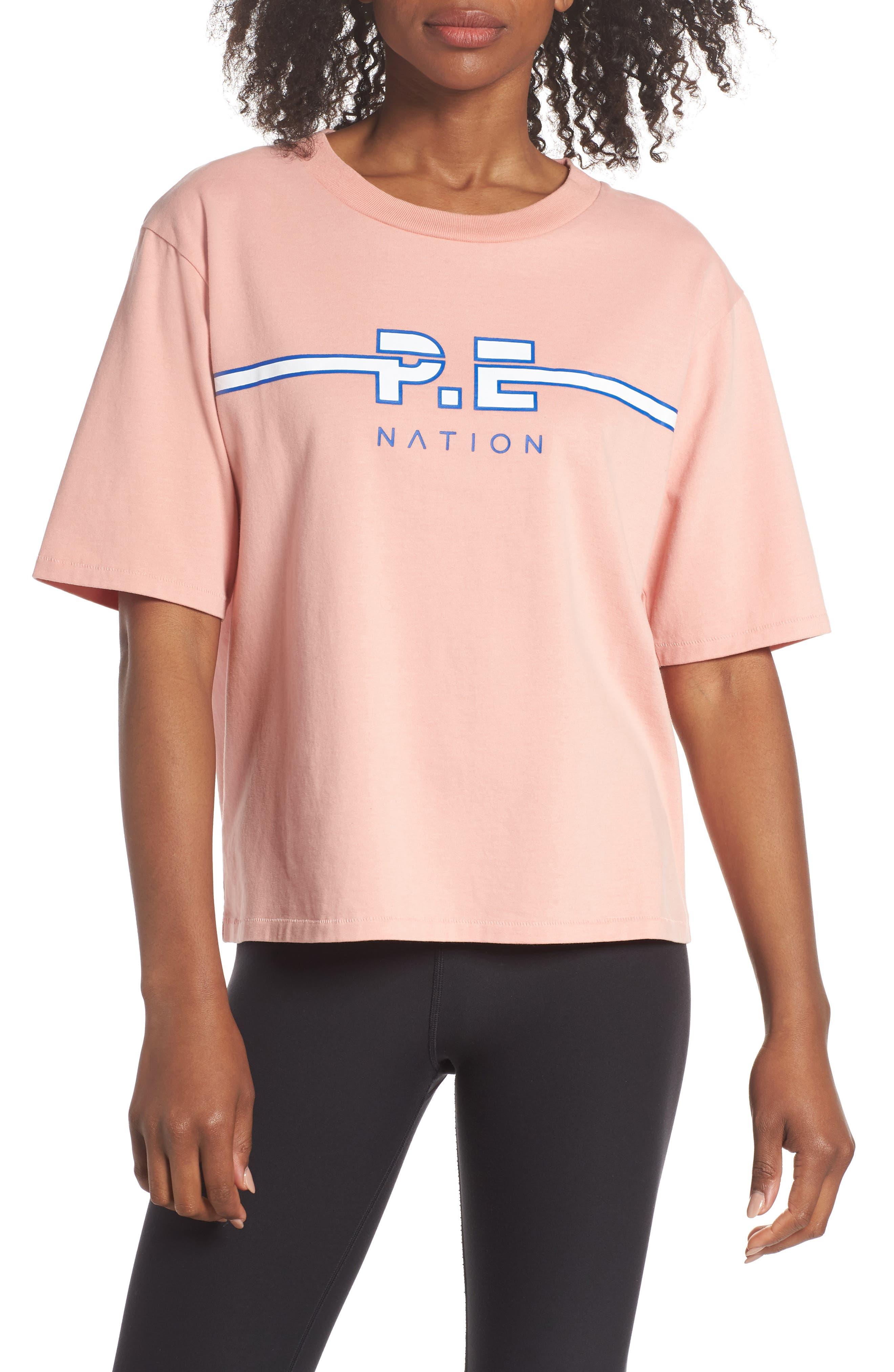 Active Duty Tee,                             Main thumbnail 1, color,                             PASTEL PINK