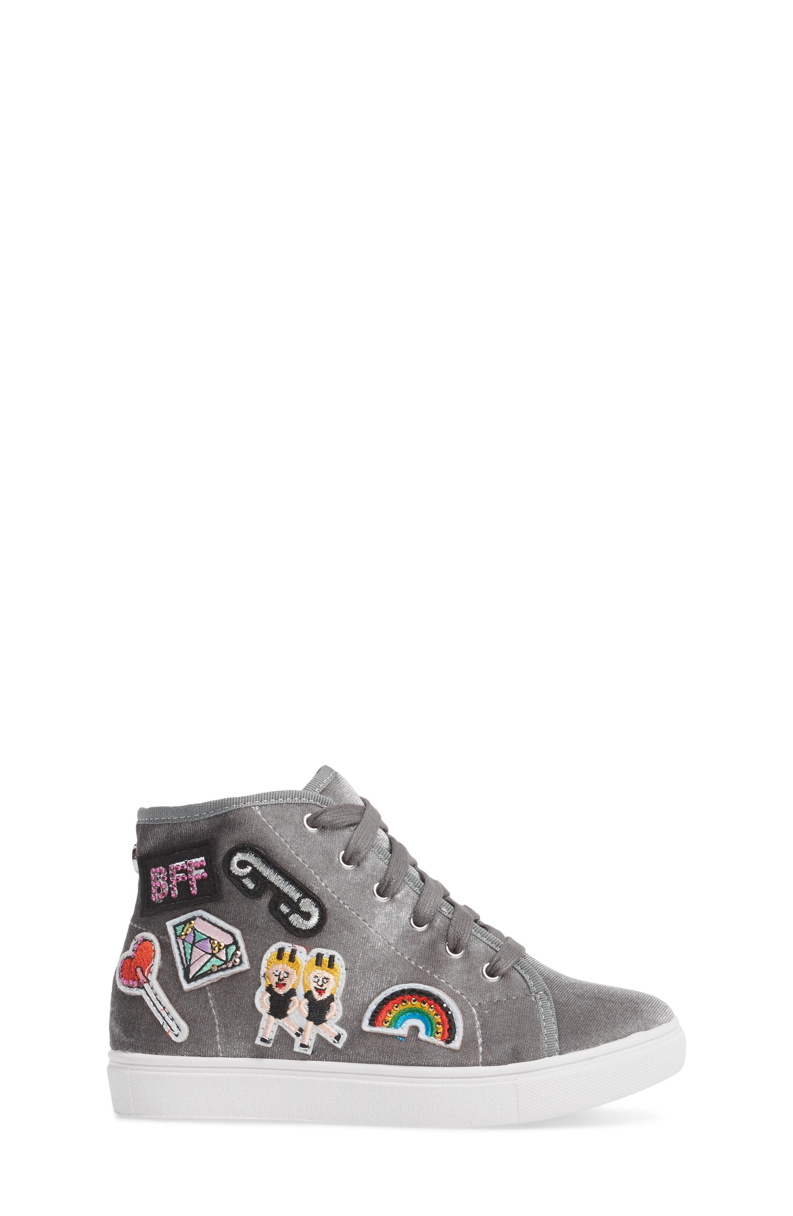 J-BFF High Top Sneaker,                             Alternate thumbnail 3, color,                             055