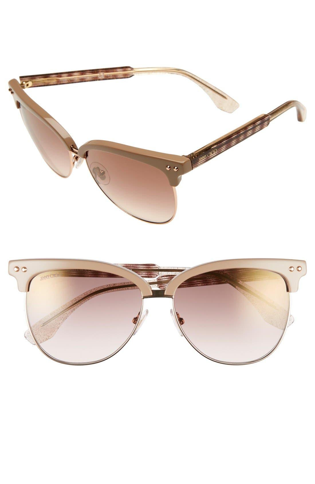 'Aryaya' 57mm Retro Sunglasses,                         Main,                         color,
